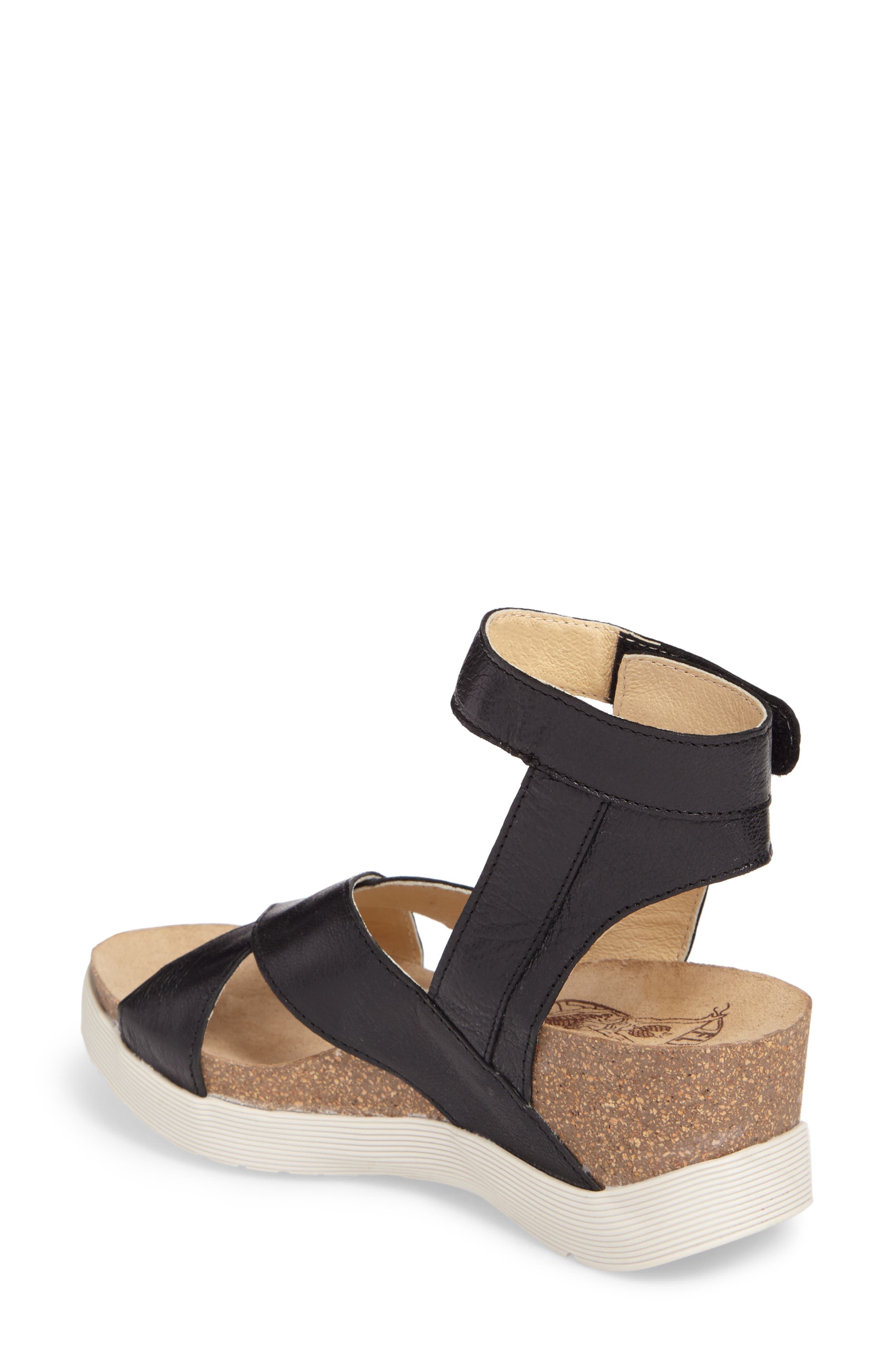 Weel Nubuck Leather Platform Sandal,                             Alternate thumbnail 2, color,                             BLACK MOUSSE LEATHER