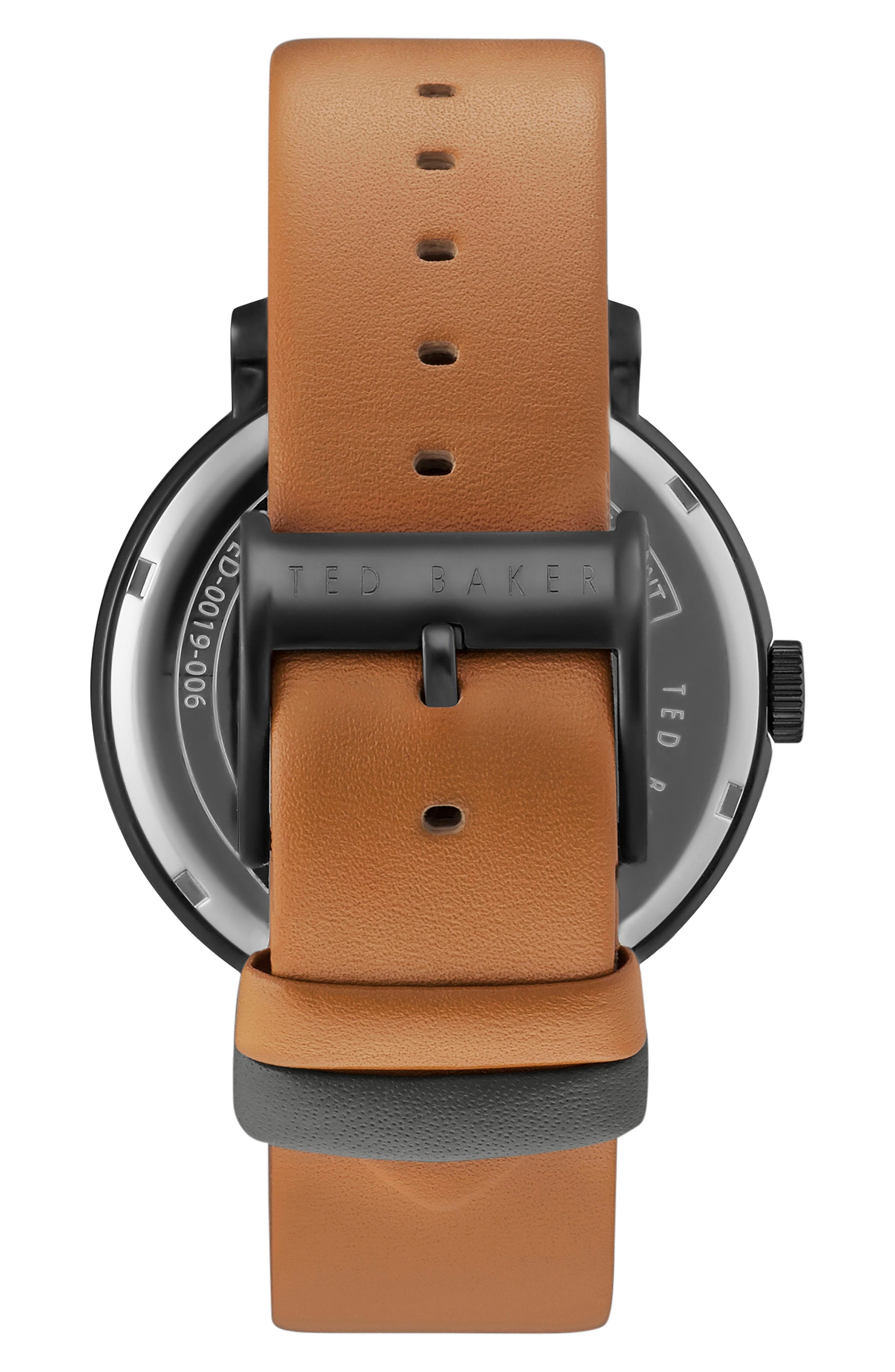 Oliver Leather Strap Watch, 42mm,                             Alternate thumbnail 2, color,                             200