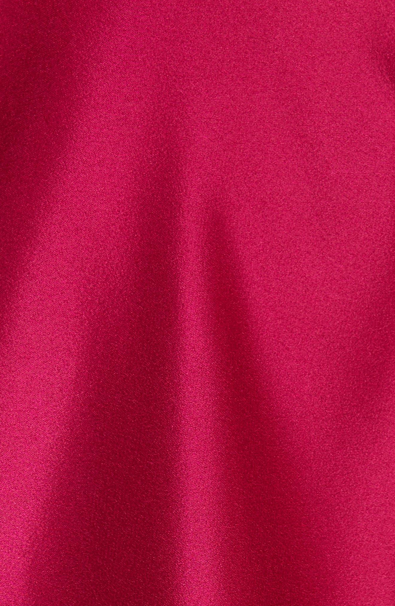 Popover Cape Liquid Crepe Column Gown,                             Alternate thumbnail 5, color,                             651