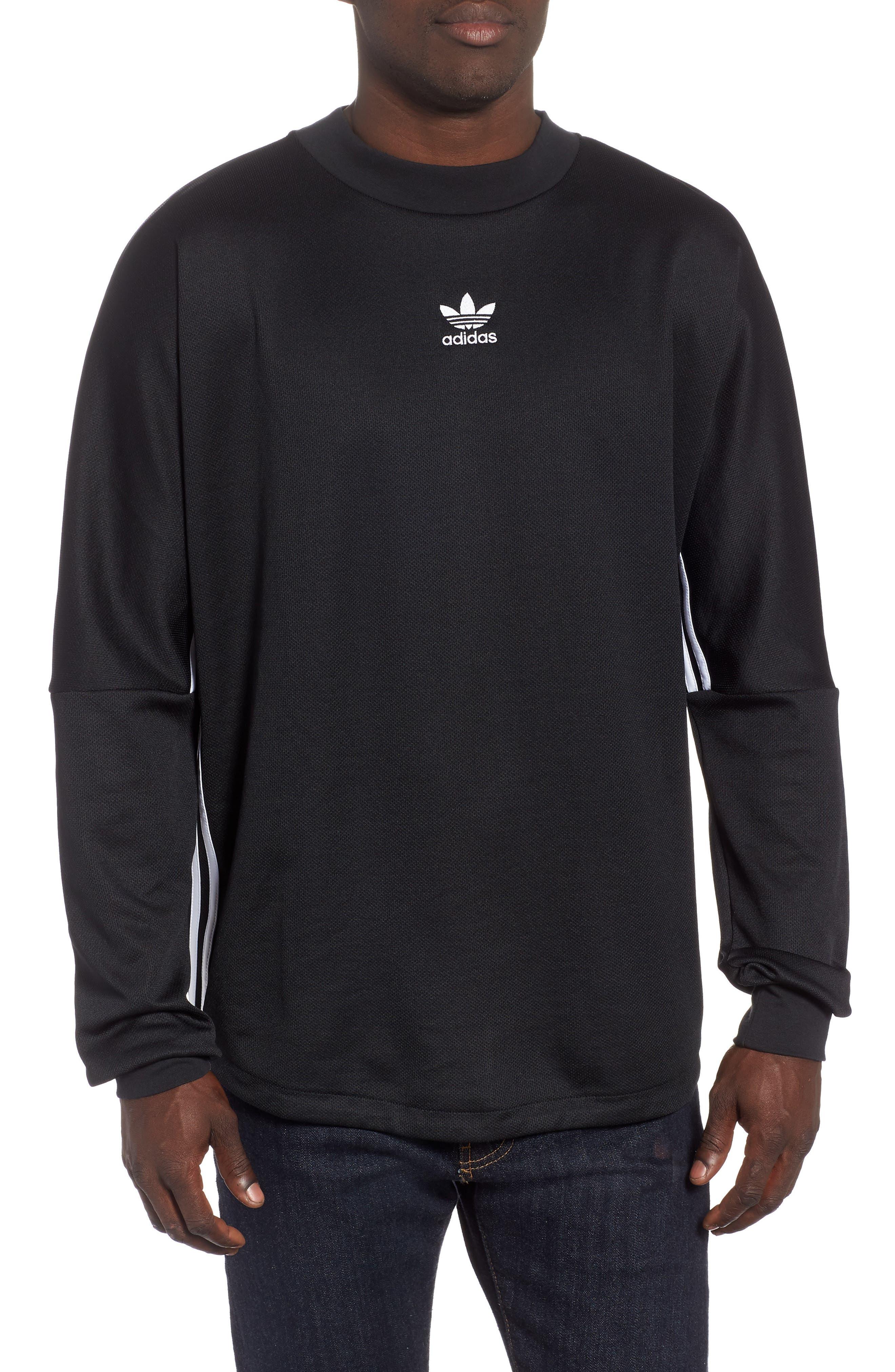 Authentics Long Sleeve Goalie Shirt,                         Main,                         color, BLACK/ WHITE