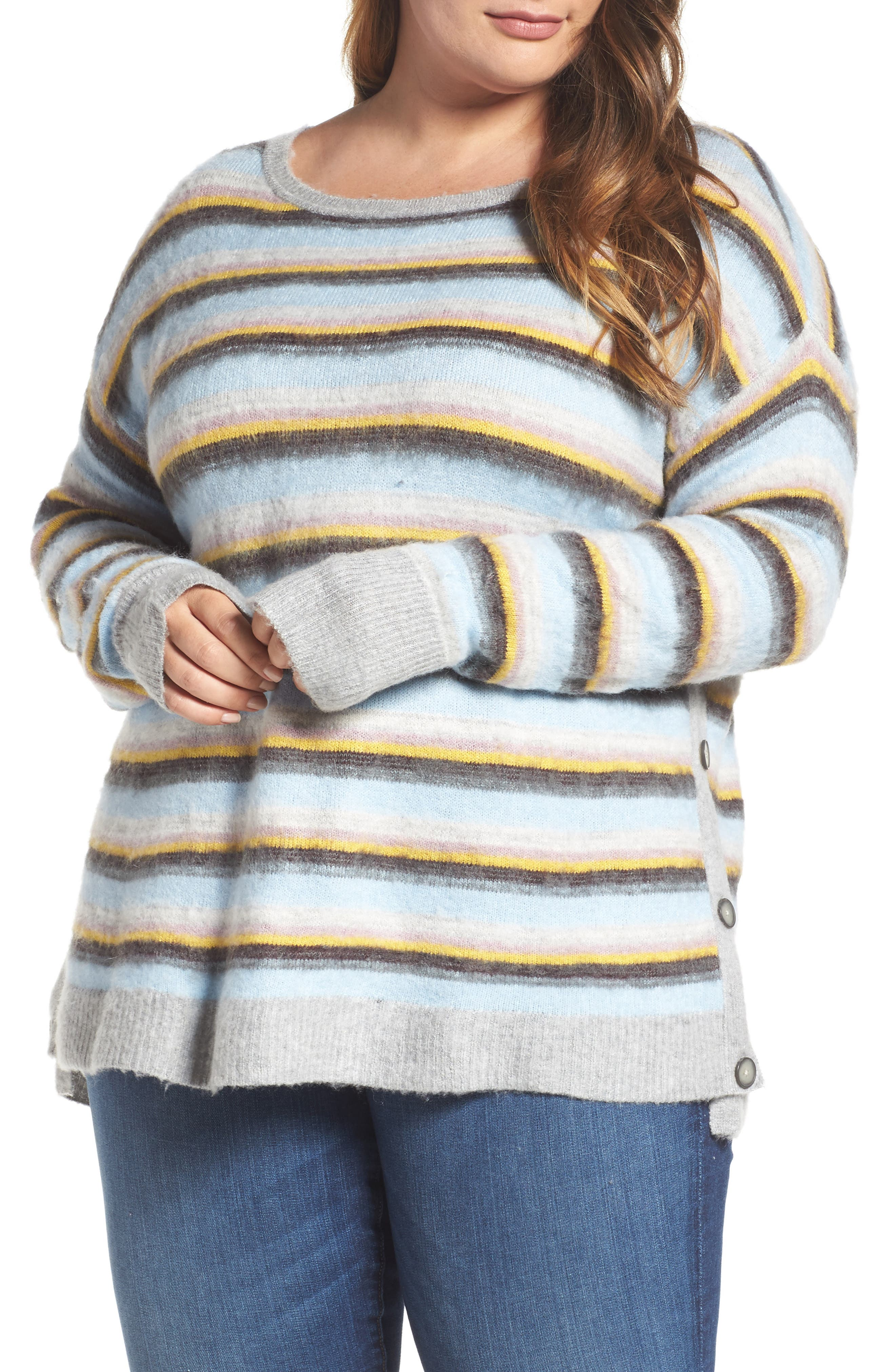 Side Button Sweater,                         Main,                         color, 030