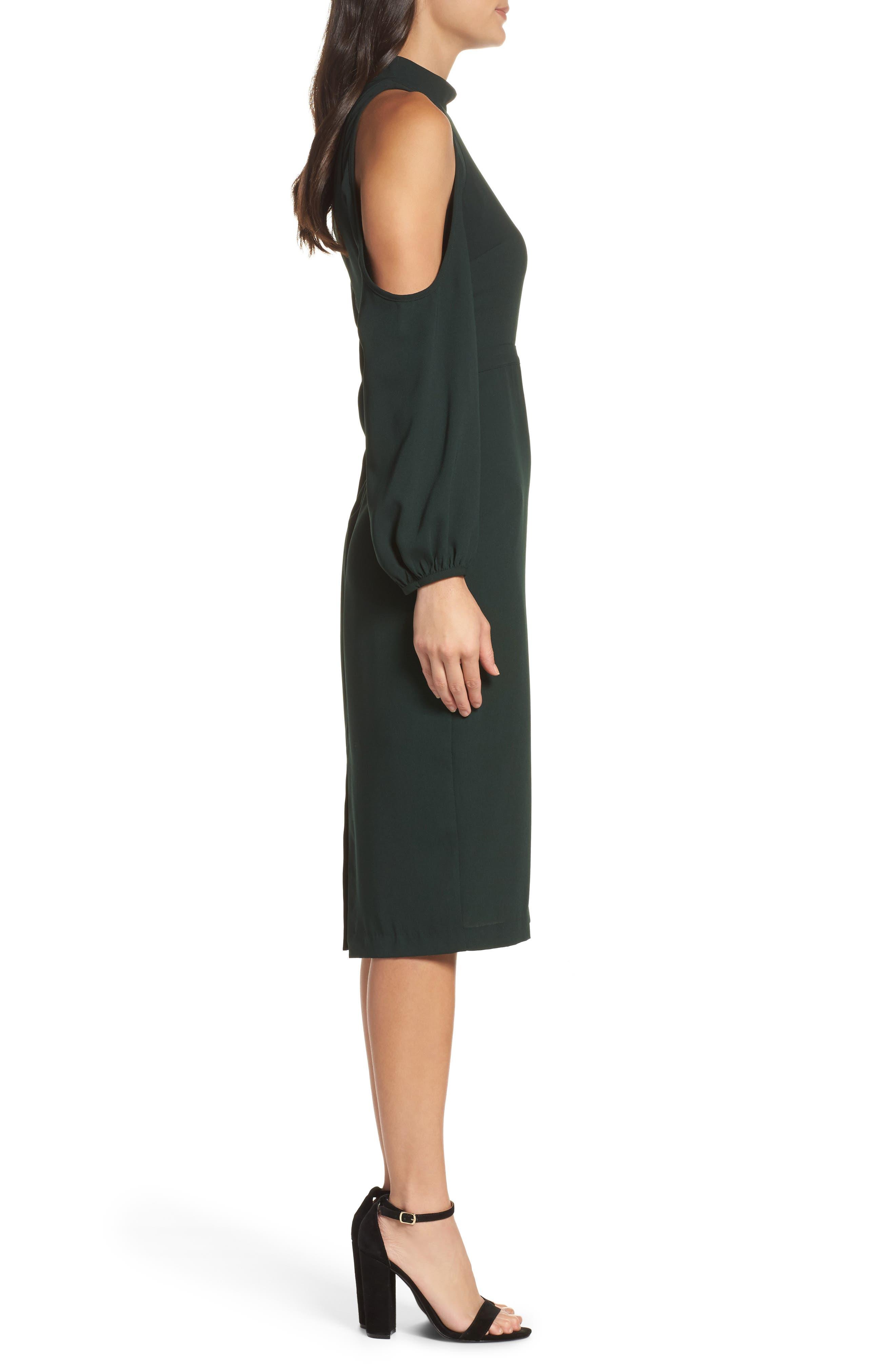 Power Shoulder Sheath Dress,                             Alternate thumbnail 6, color,
