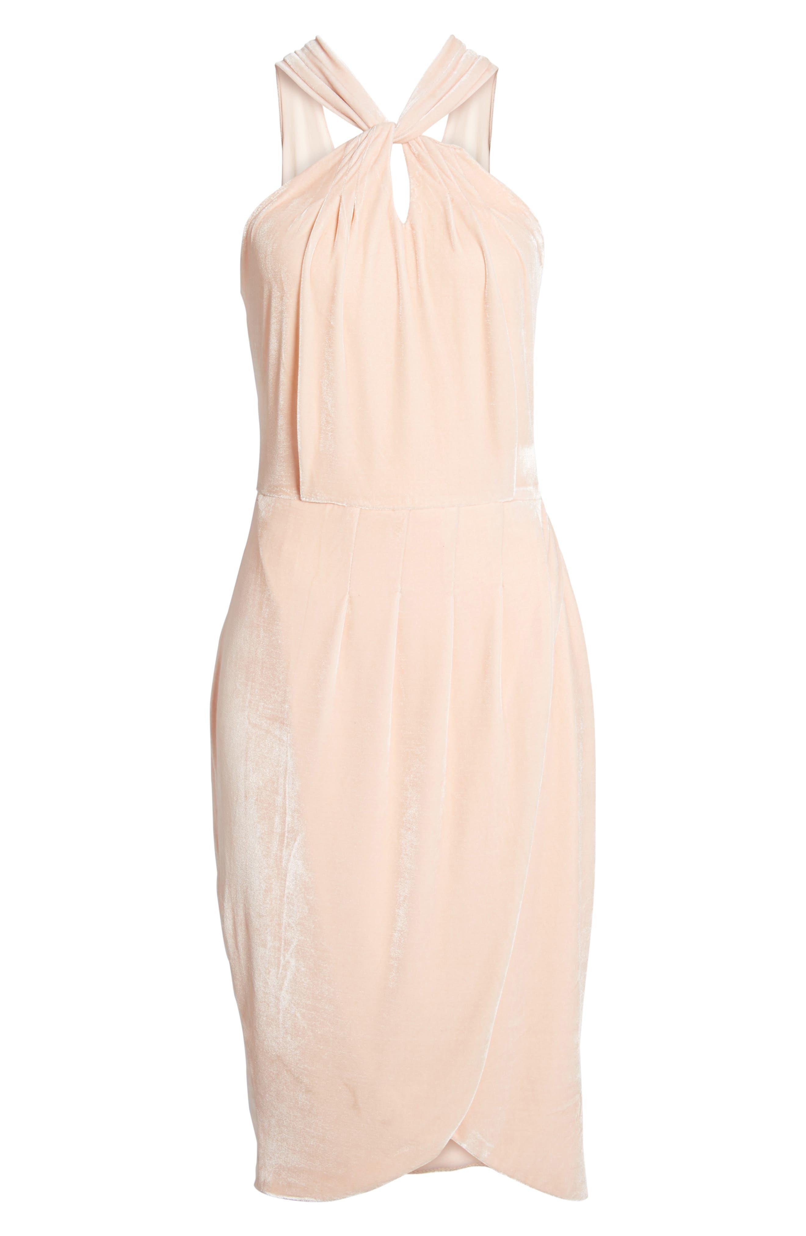 Wales Velvet Halter Dress,                             Alternate thumbnail 12, color,