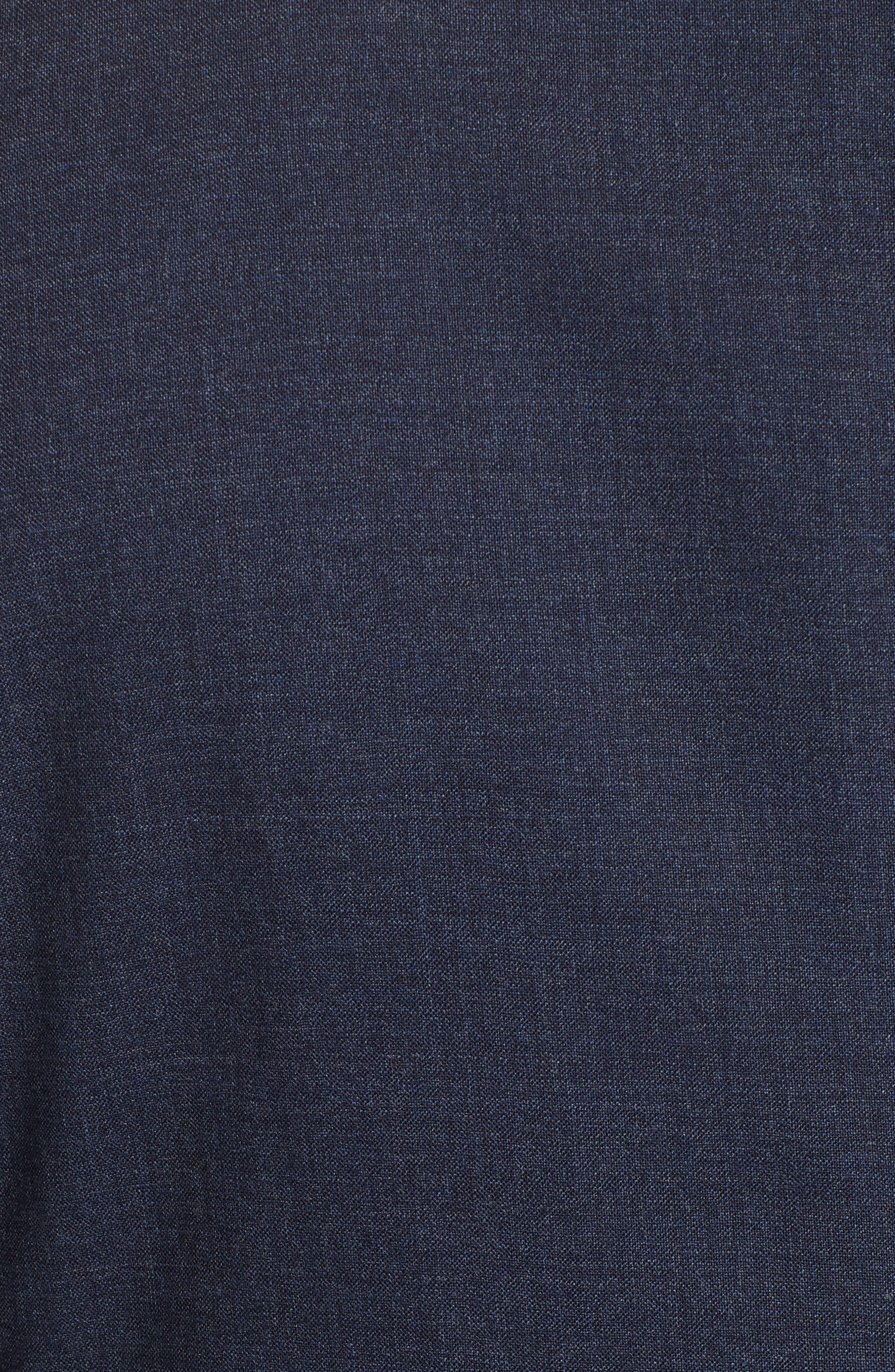 Trim Fit Solid Wool Suit,                             Alternate thumbnail 7, color,                             BLUE