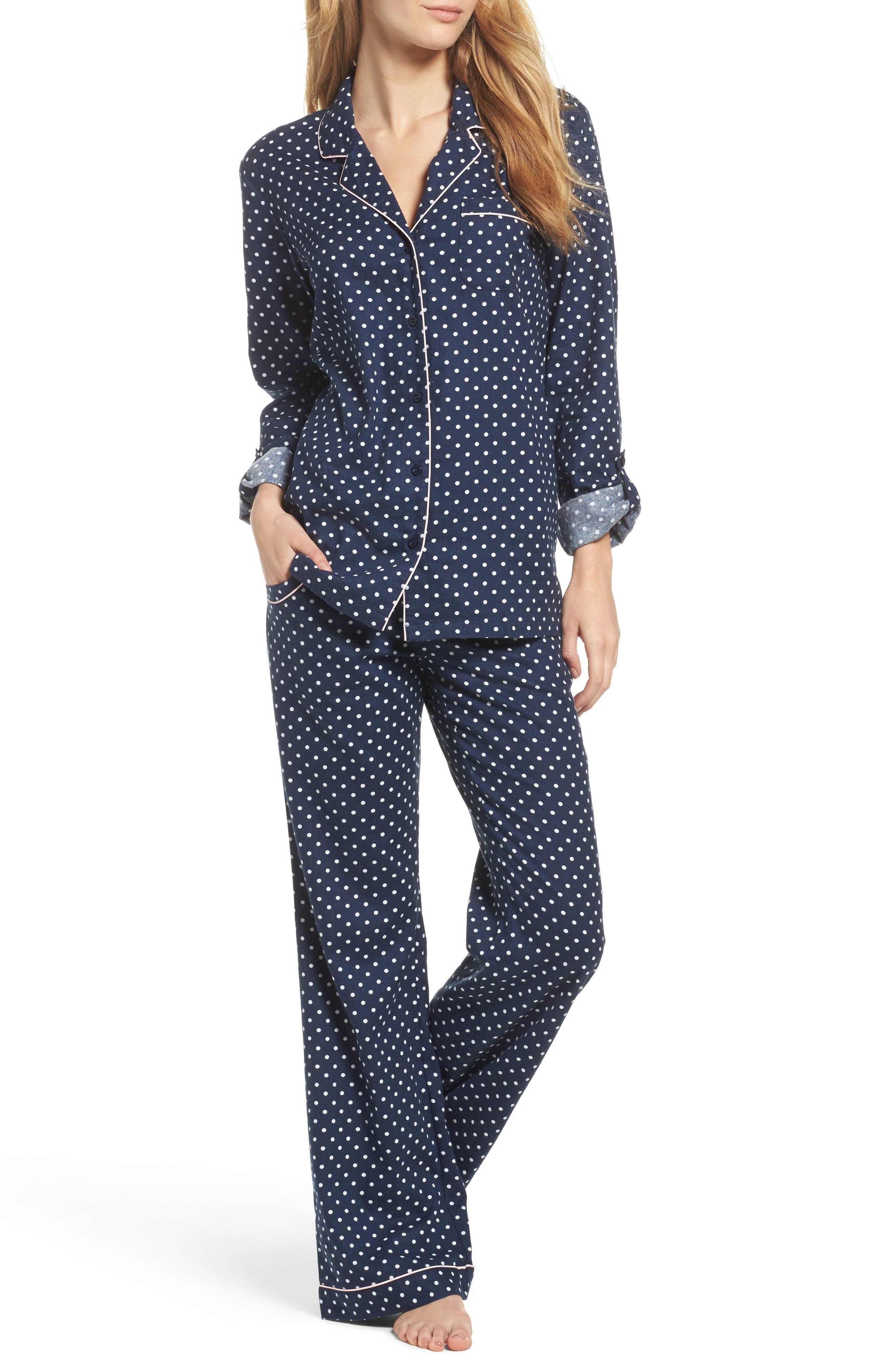 Cotton Twill Pajamas,                         Main,                         color, 414
