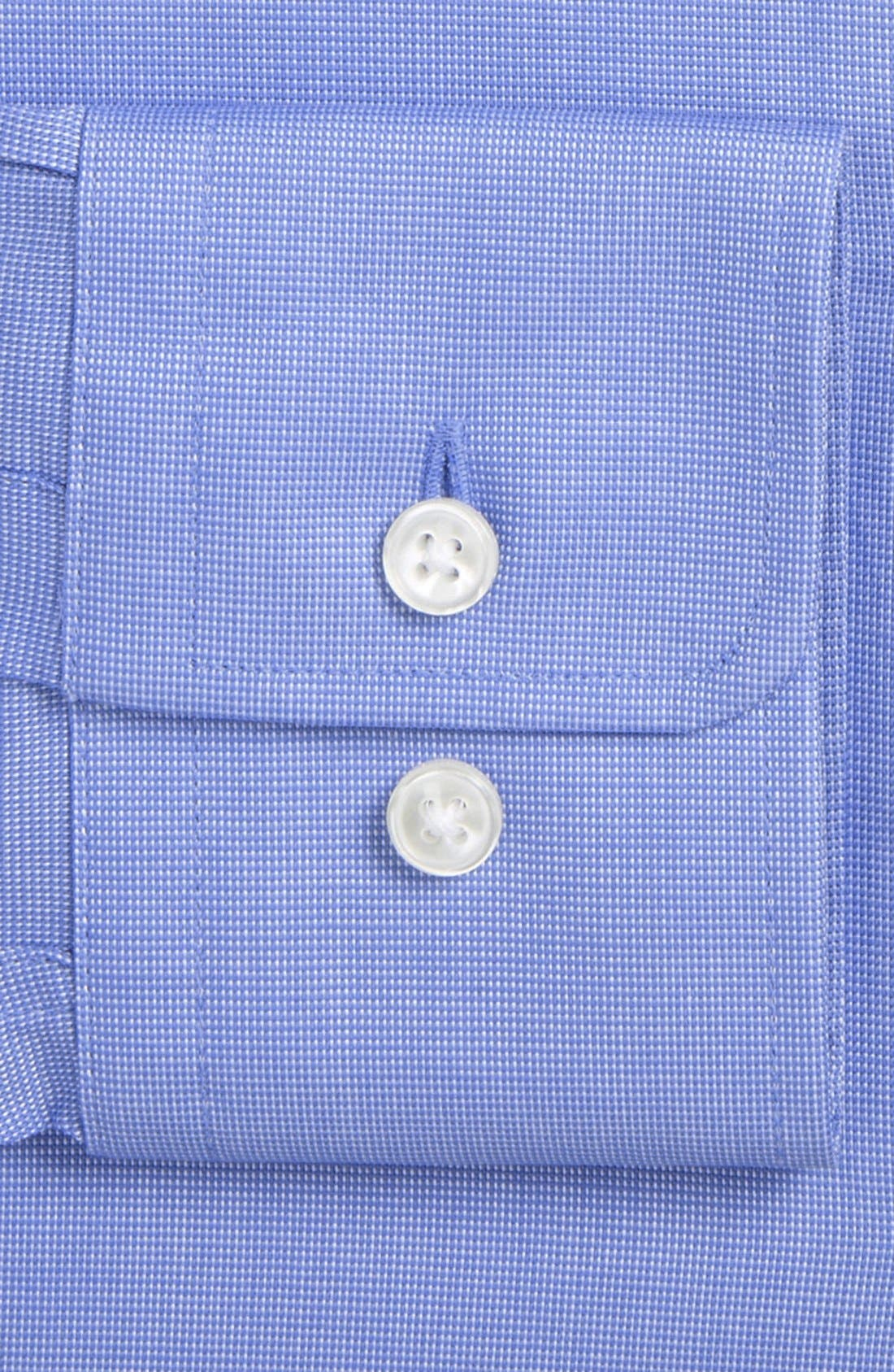 Sharp Fit Solid Dress Shirt,                             Alternate thumbnail 3, color,                             450