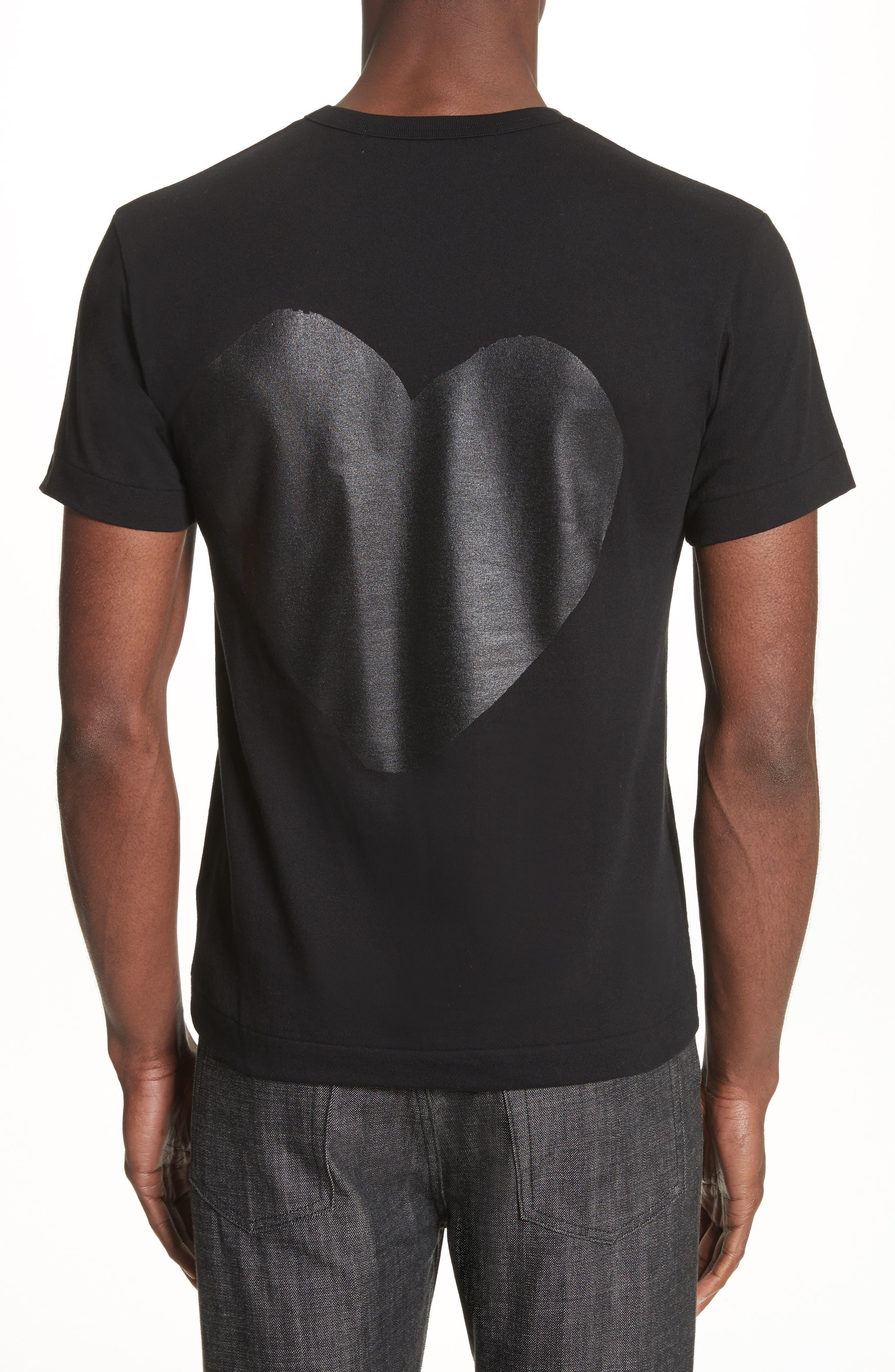 COMME DES GARÇONS PLAY,                             Graphic T-Shirt,                             Alternate thumbnail 2, color,                             BLACK