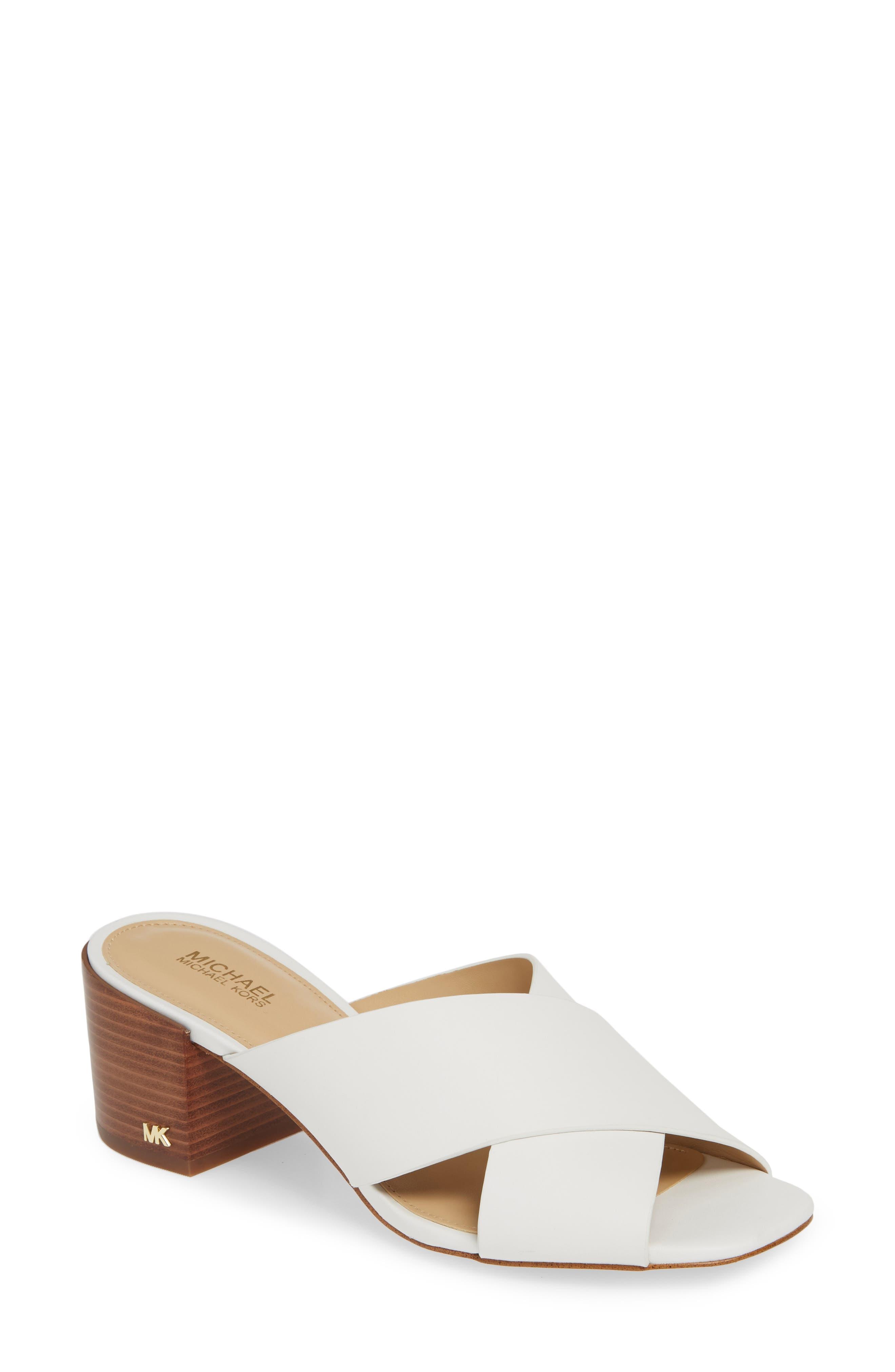 Michael Michael Kors Abbot Slide Sandal- White
