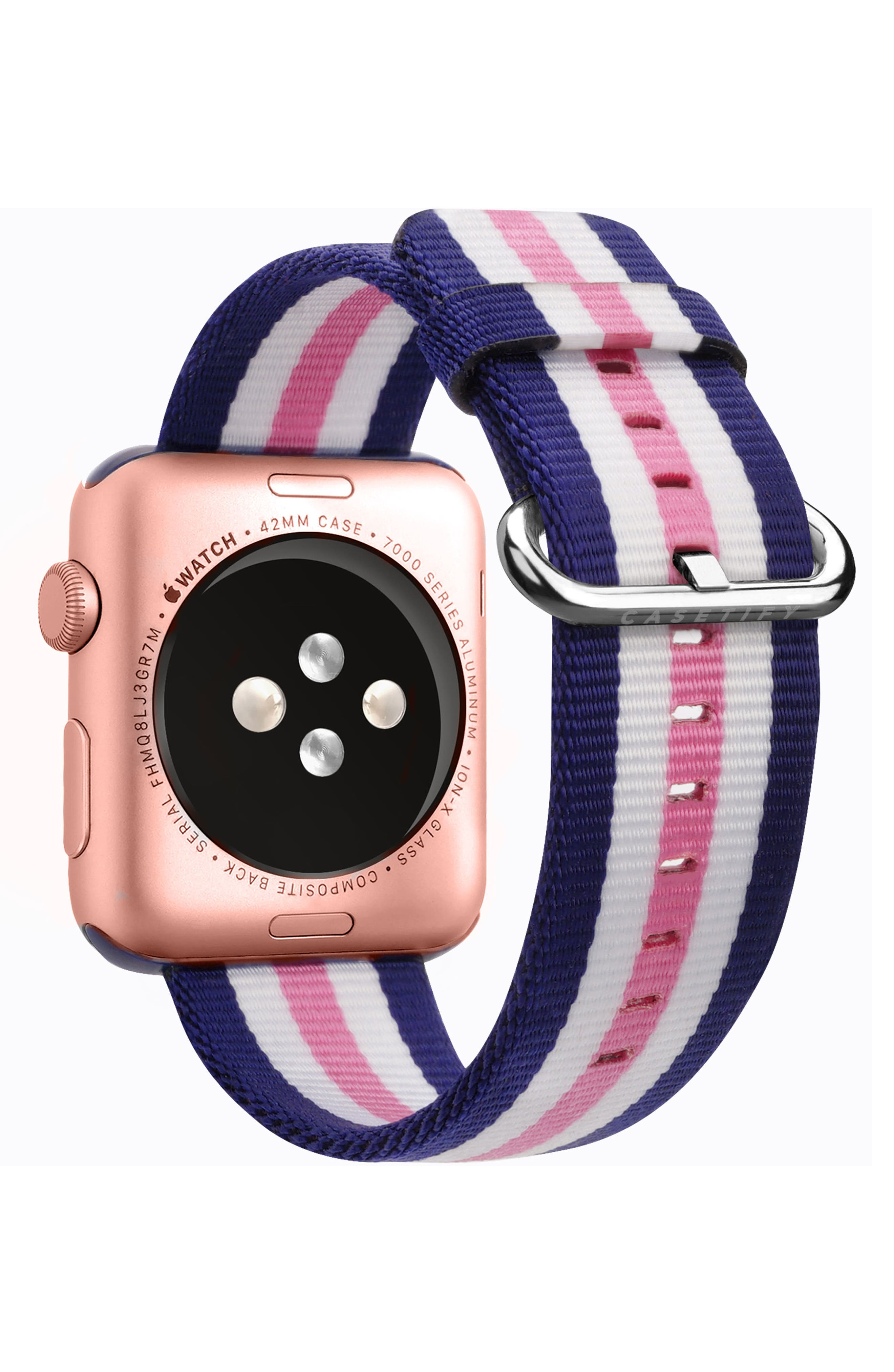 Nylon Apple Watch Strap, 38mm,                             Alternate thumbnail 7, color,