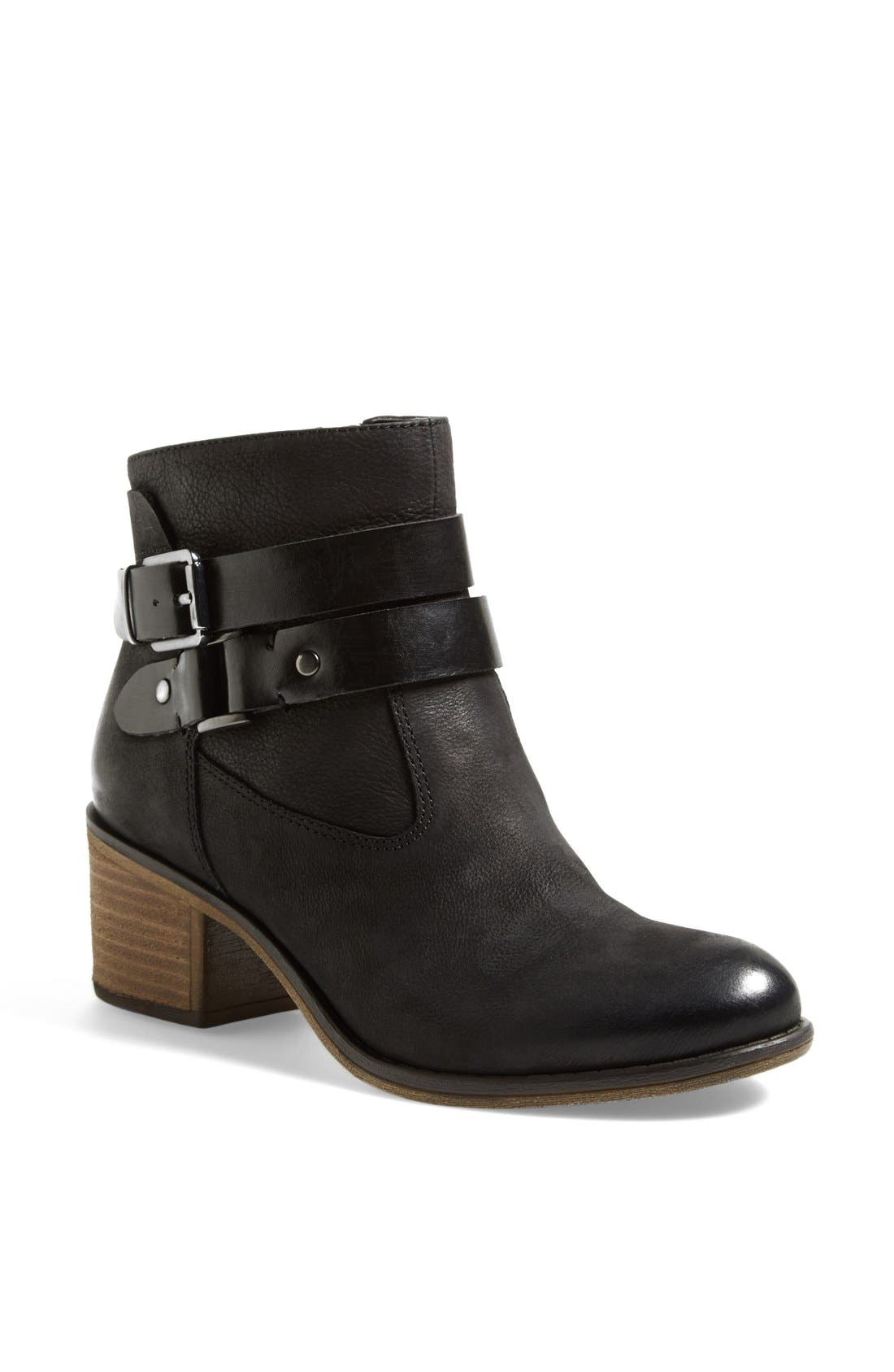'Linden' Leather Bootie,                             Main thumbnail 1, color,                             001