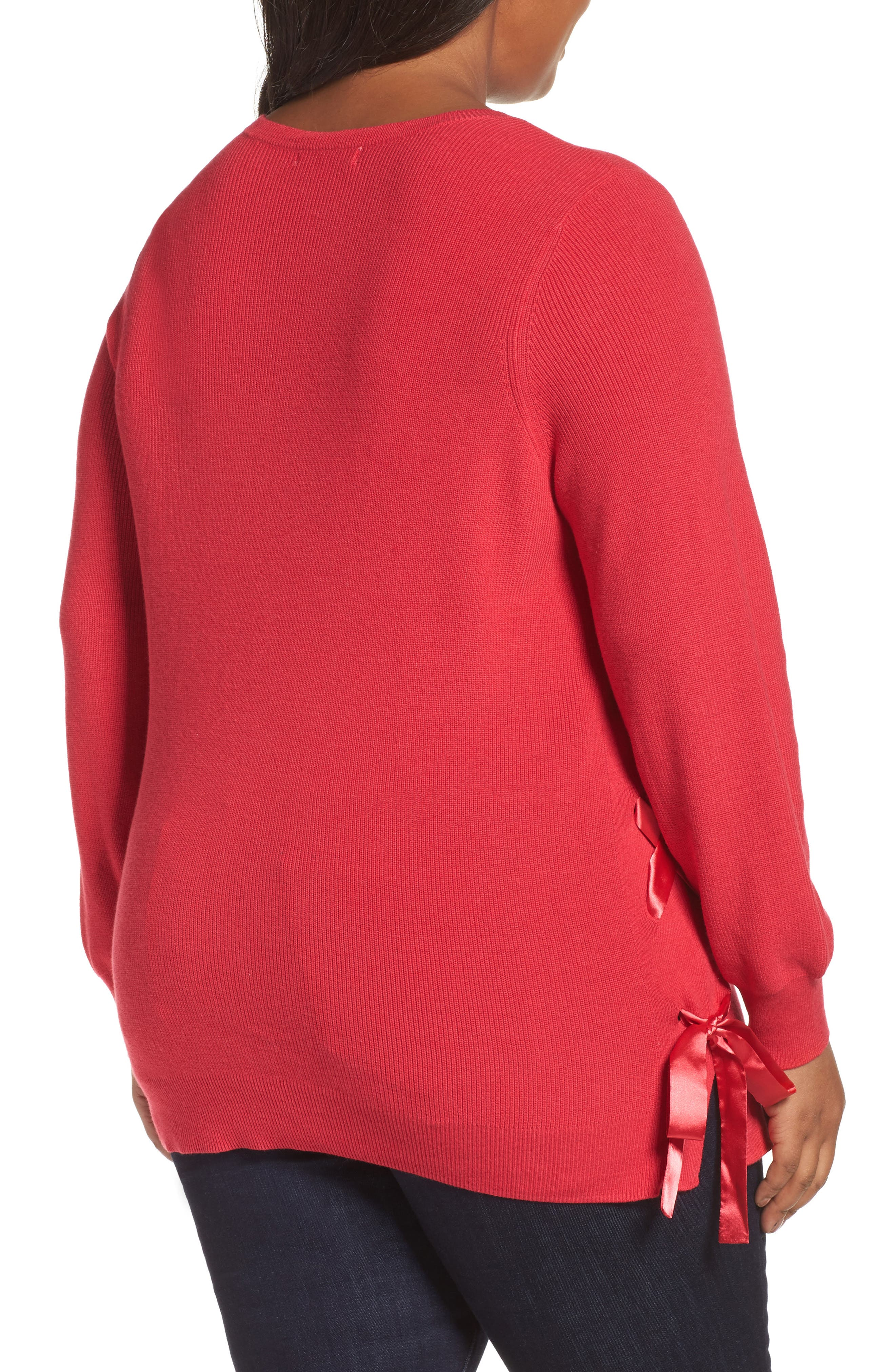 Lace-Up Pullover,                             Alternate thumbnail 6, color,