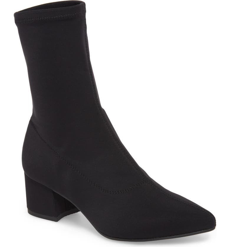 Maya Stretch Bootie, Main, color, BLACK FABRIC