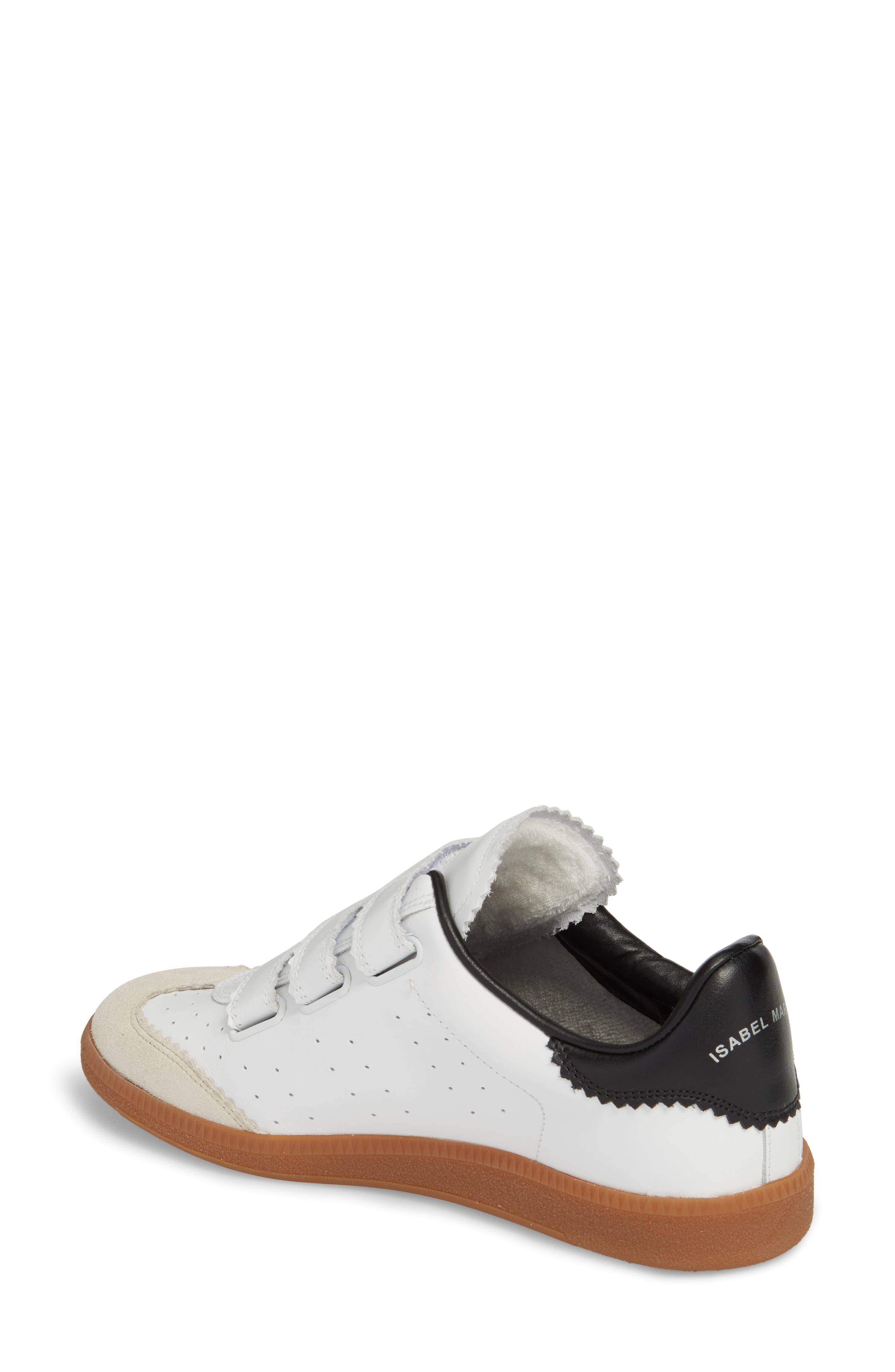 Isabel Marant Beth Low Top Sneaker,                             Alternate thumbnail 2, color,                             WHITE