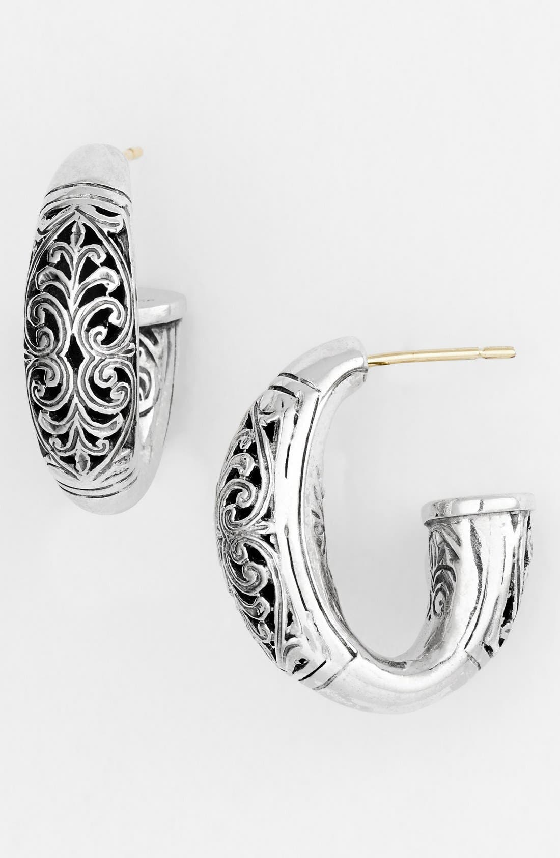 'Classics - Daphne' Hoop Earrings,                             Main thumbnail 1, color,                             SILVER