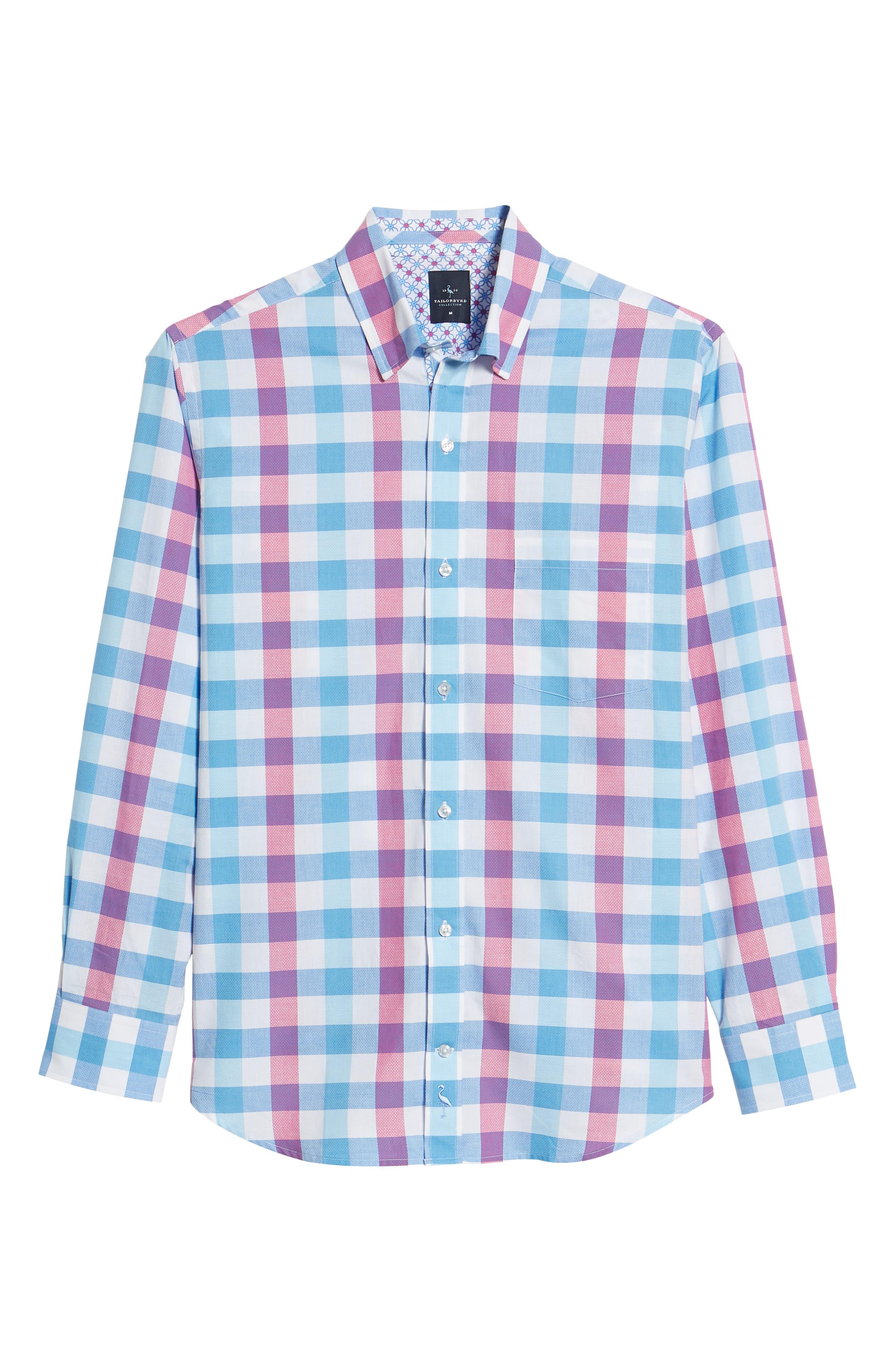 Bazel Regular Fit Check Sport Shirt,                             Alternate thumbnail 6, color,                             450