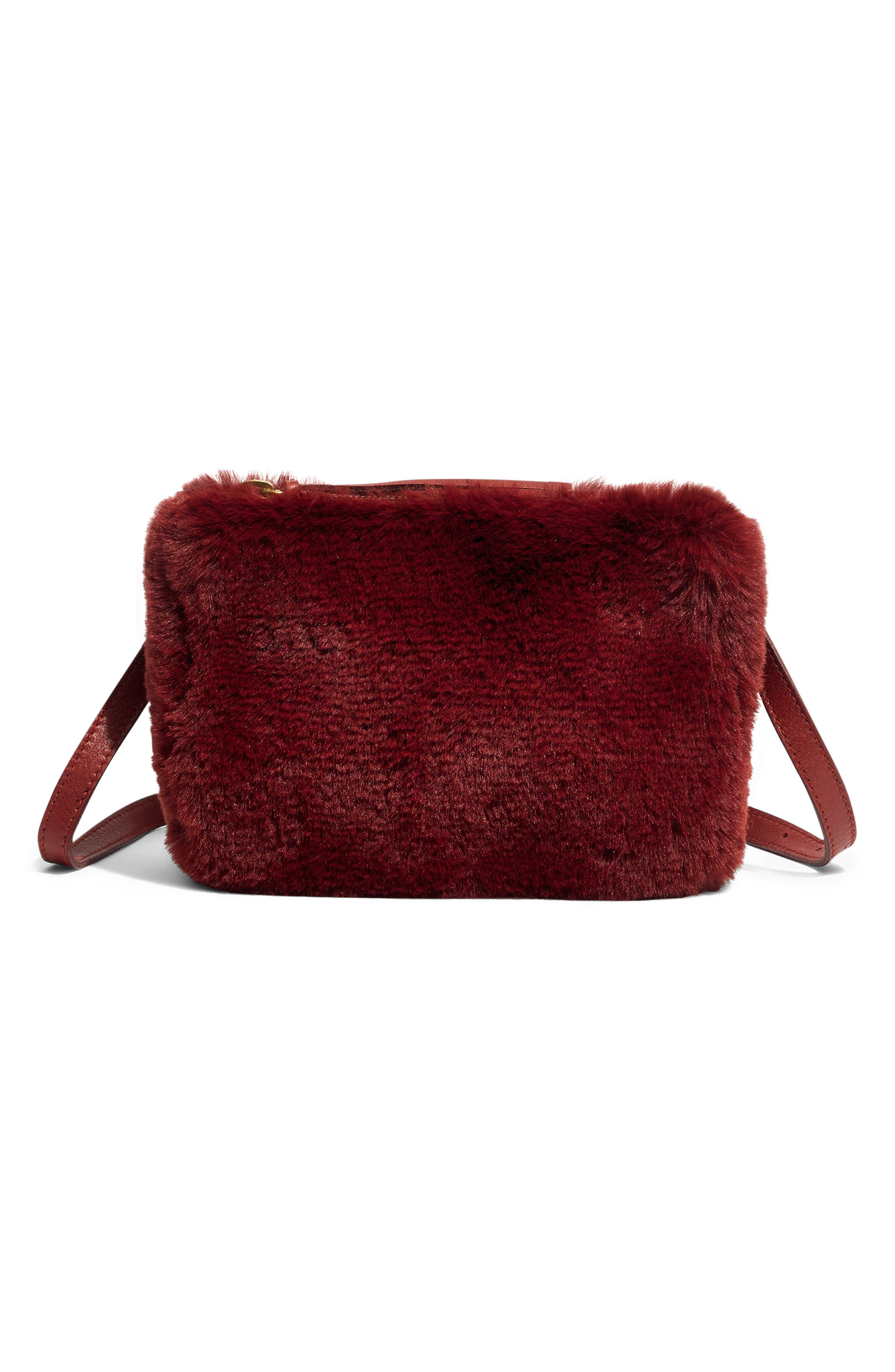 MADEWELL The Simple Pouch Faux Fur Belt Bag, Main, color, 600