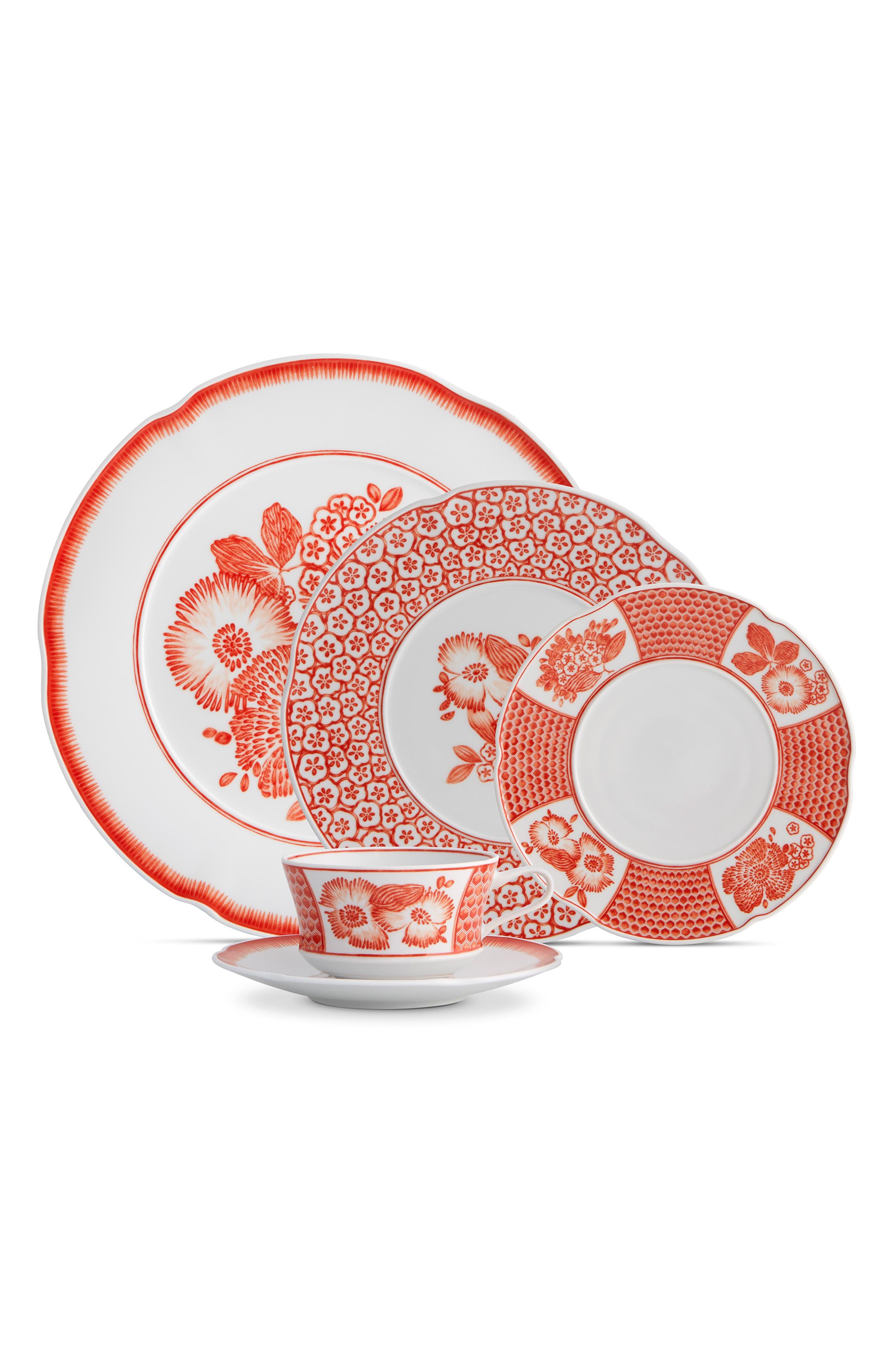 Coralina 20-Piece Dinnerware Set,                             Main thumbnail 1, color,                             WHITE