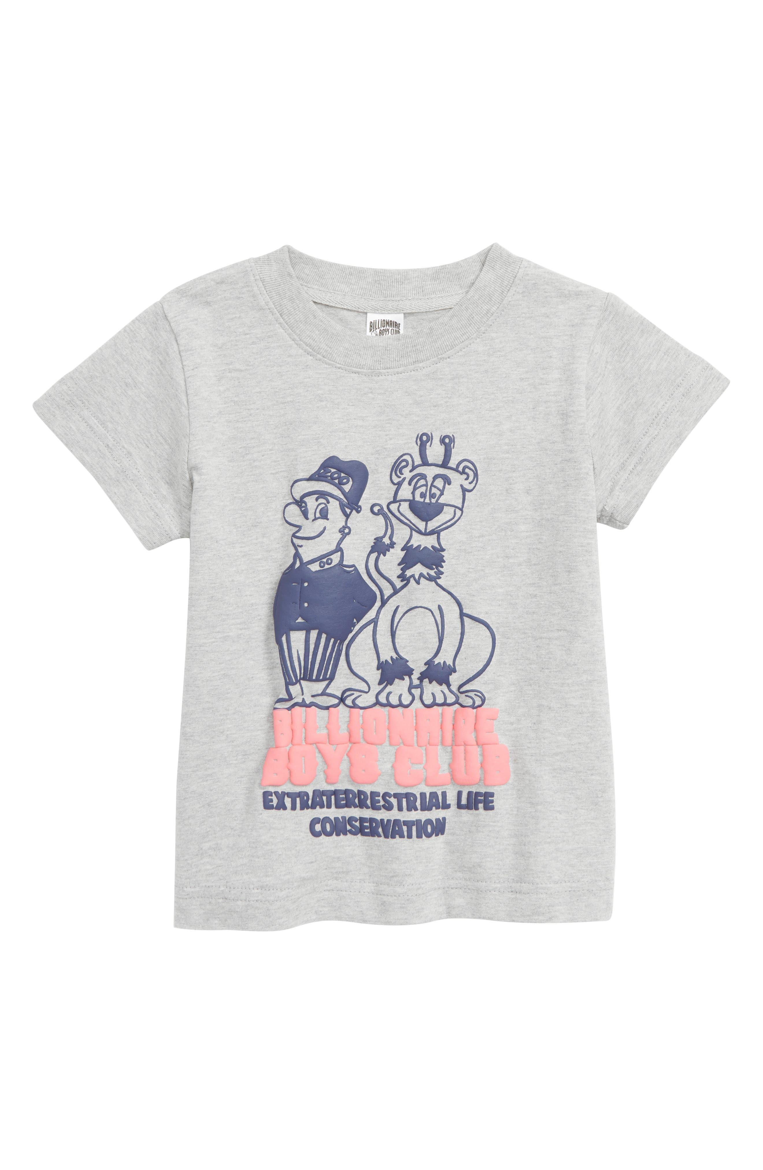 BILLIONAIRE BOYS CLUB,                             Zookeeper T-Shirt,                             Main thumbnail 1, color,                             HEATHER GREY