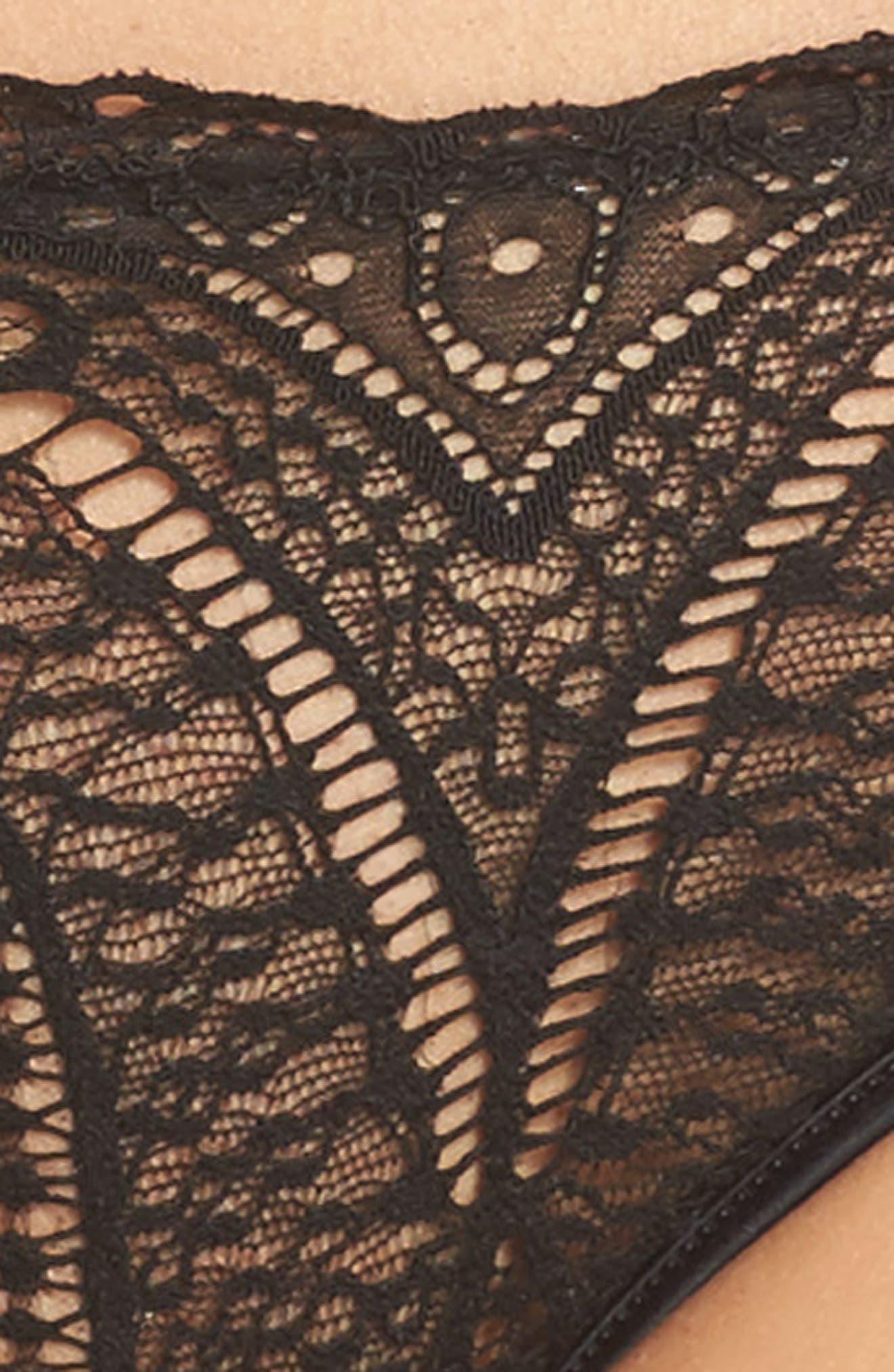 Black Audacious Lace Bikini,                             Alternate thumbnail 7, color,