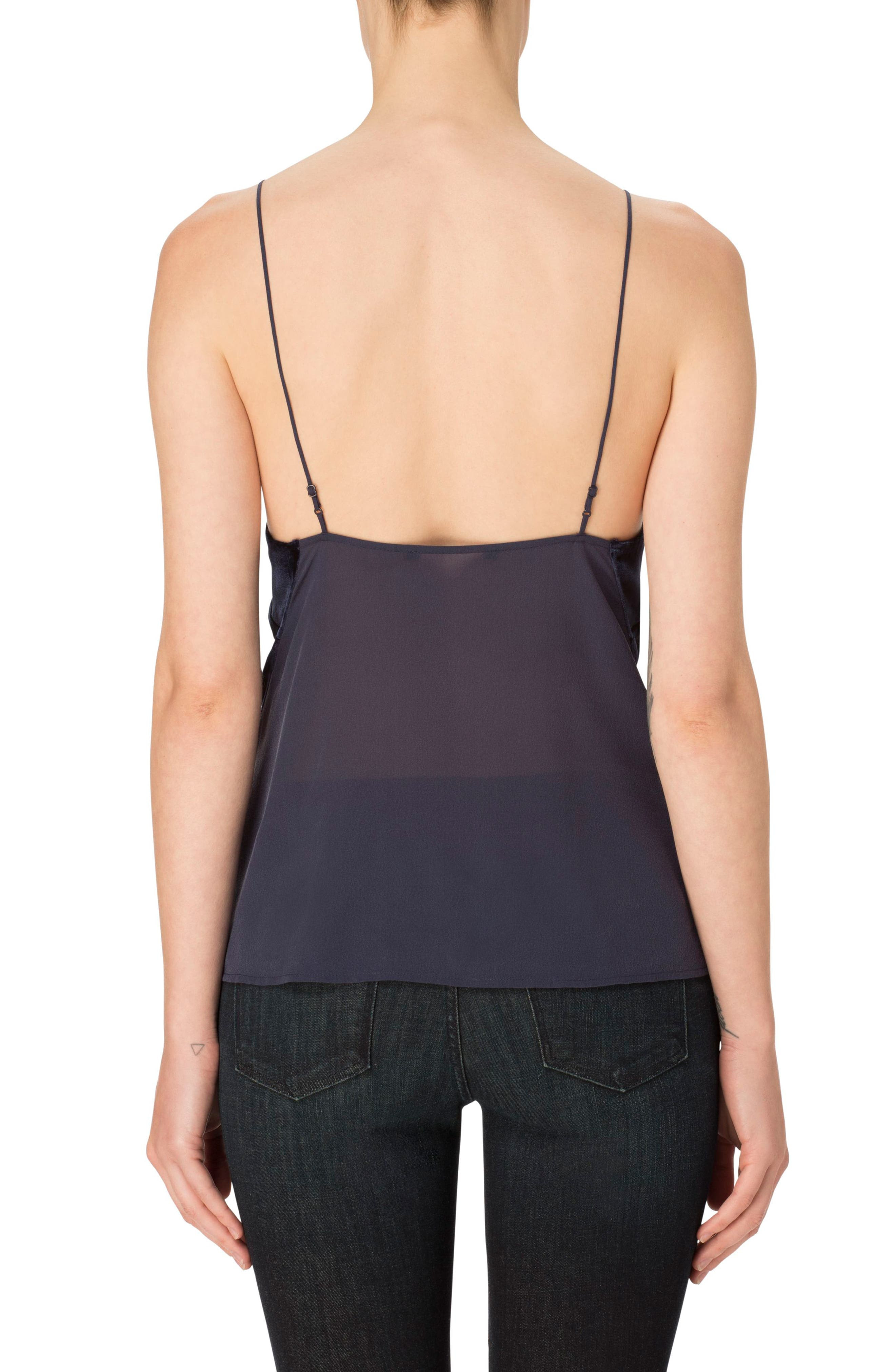 'Lucy' Velvet Front Camisole,                             Alternate thumbnail 2, color,                             407