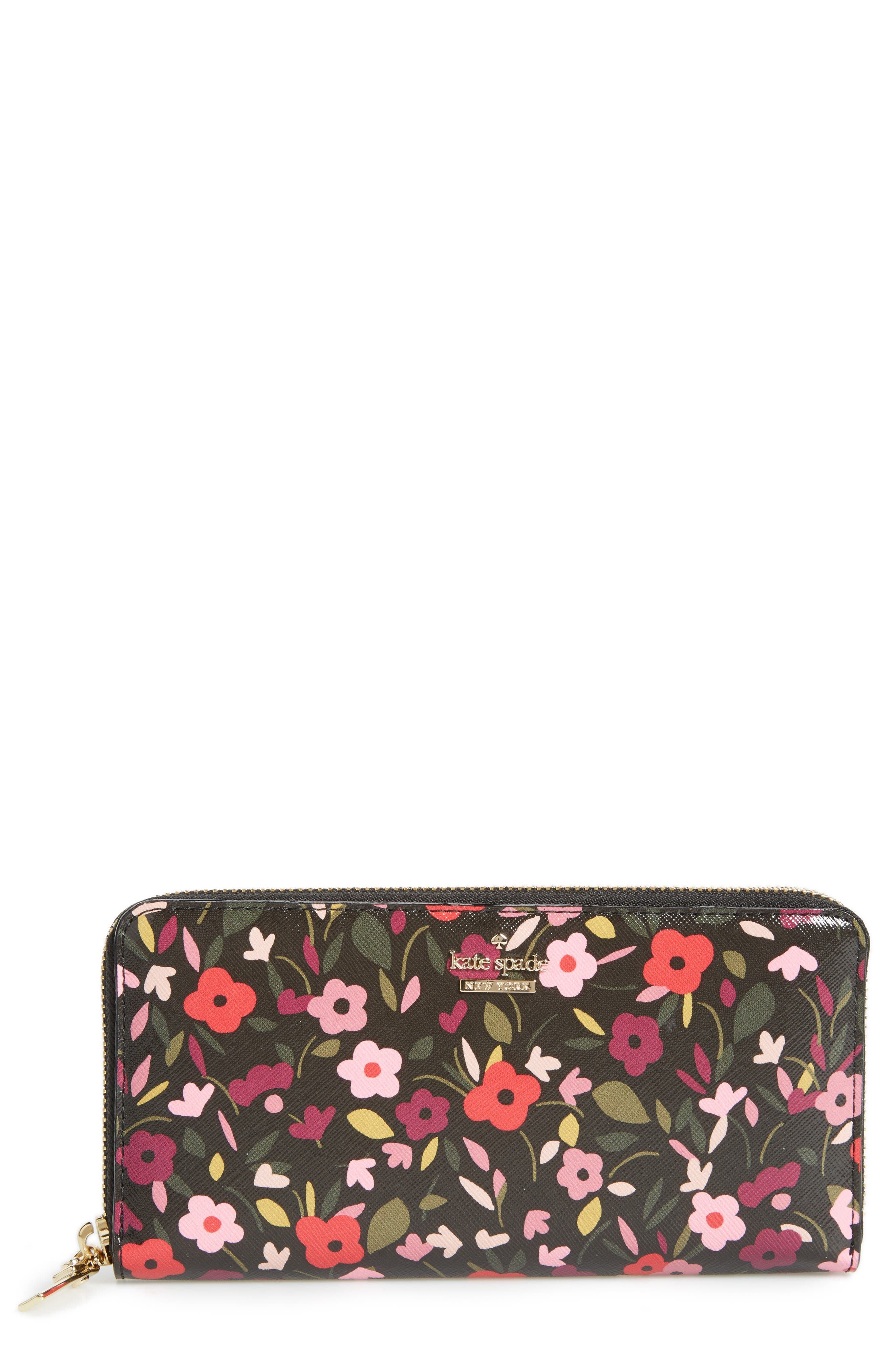 cameron street - lacey zip around wallet,                             Main thumbnail 1, color,                             001