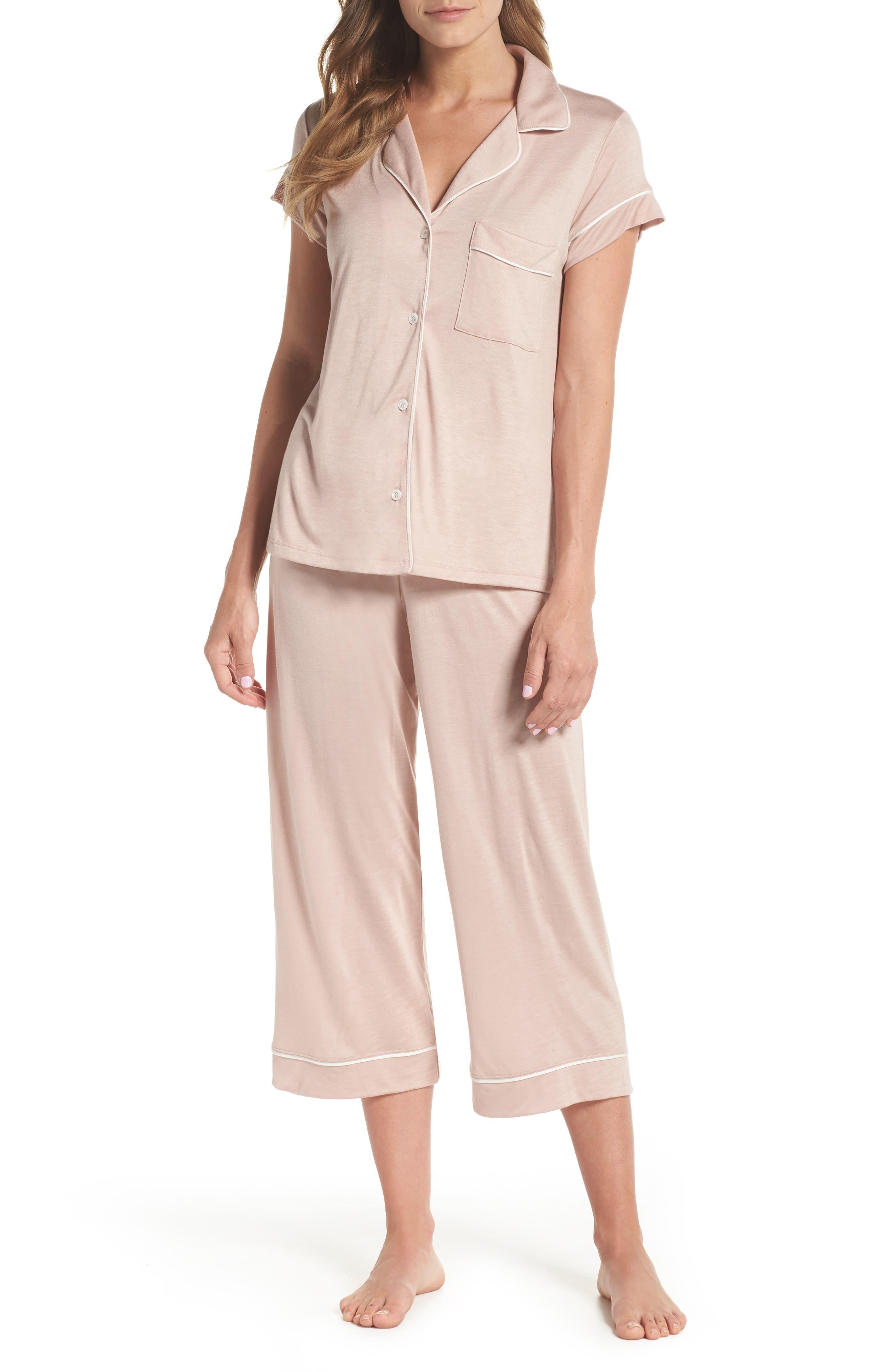 Gisele Crop Pajamas,                             Main thumbnail 2, color,
