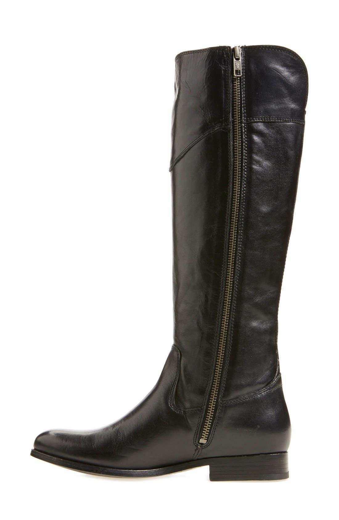 'Melissa Tab' Knee High Boot,                             Alternate thumbnail 5, color,                             001