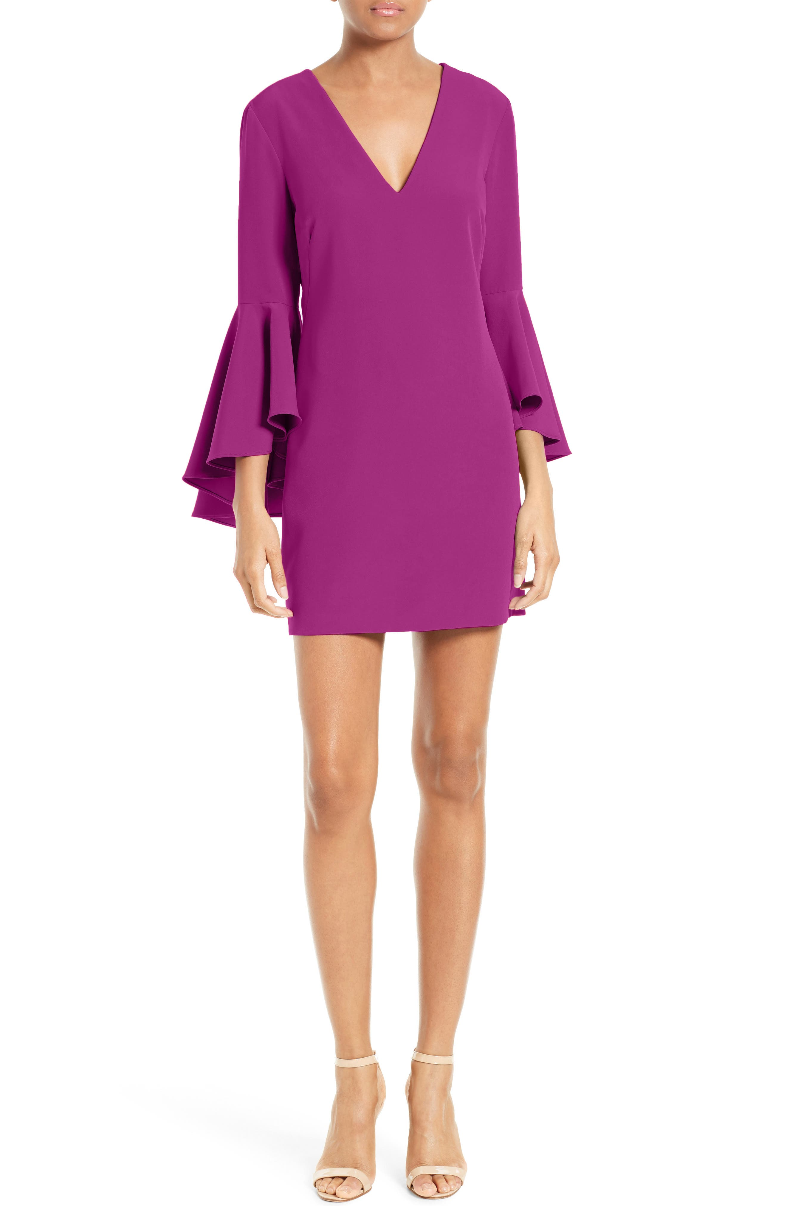 Nicole Bell Sleeve Dress,                             Main thumbnail 12, color,