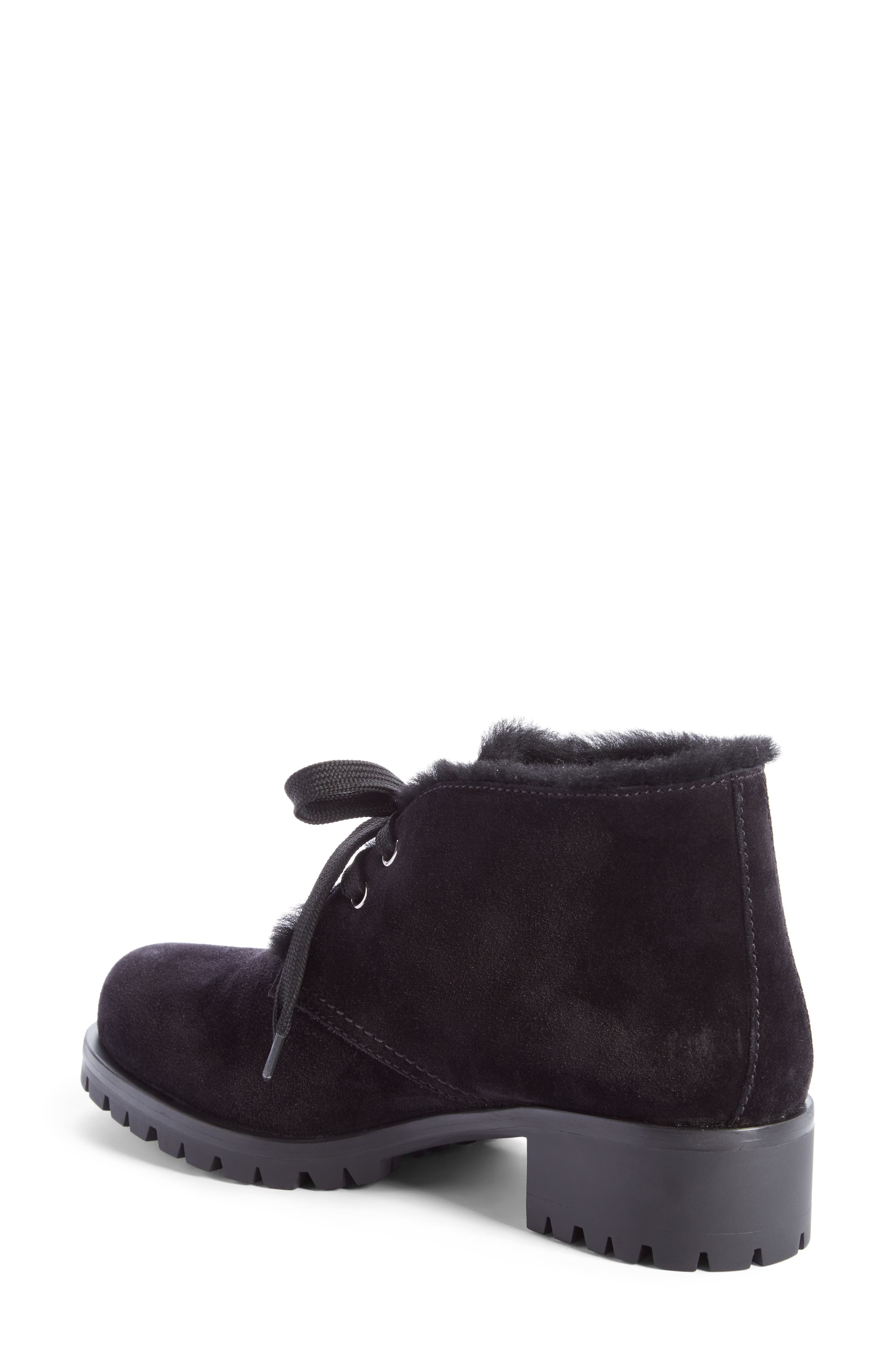 Genuine Shearling Lined Bootie,                             Alternate thumbnail 2, color,                             001