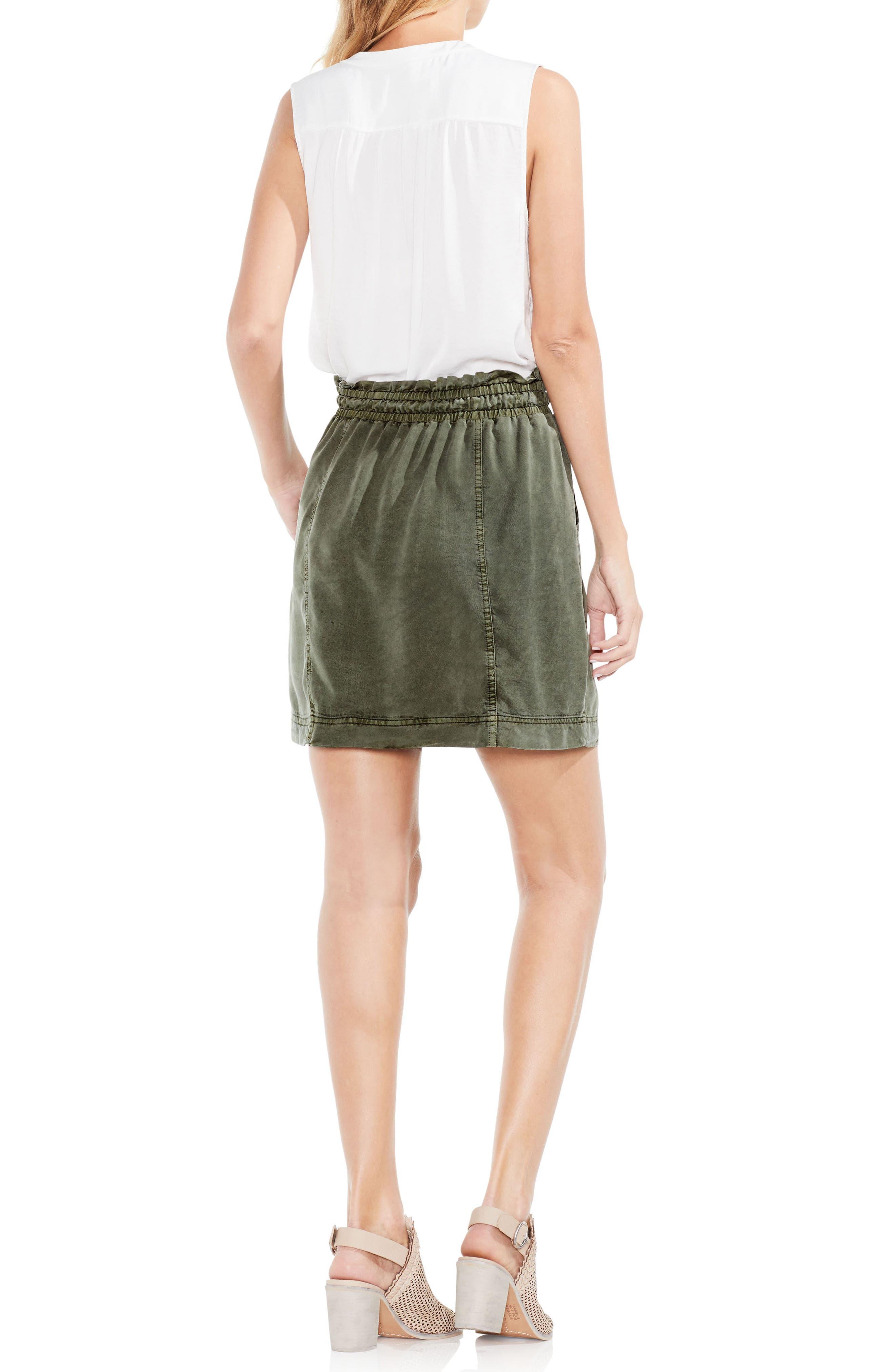 Drawstring Waist Tencel<sup>®</sup> Skirt,                             Alternate thumbnail 3, color,                             337