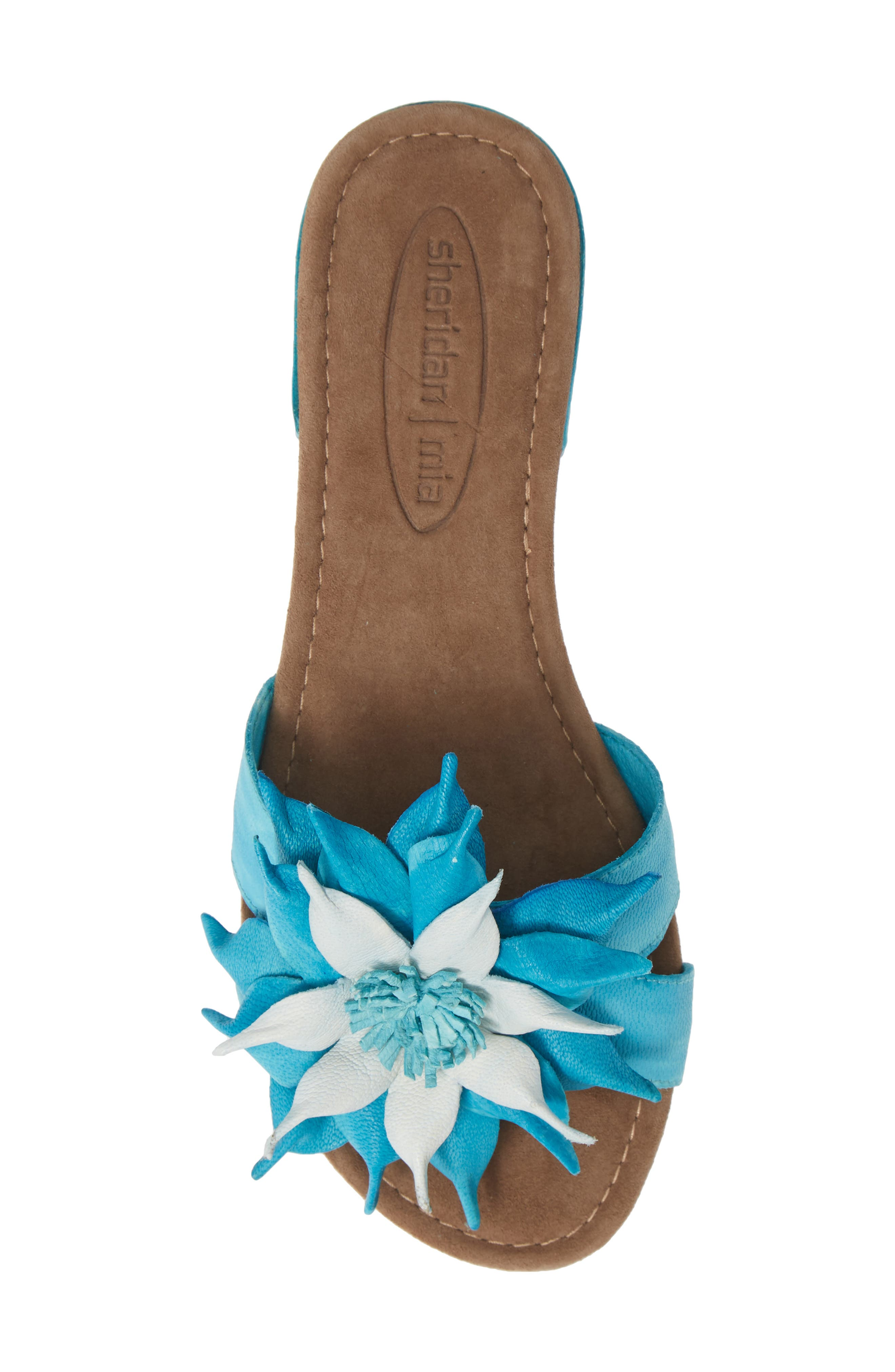 Stella Sandal,                             Alternate thumbnail 5, color,                             TURQUOISE LEATHER