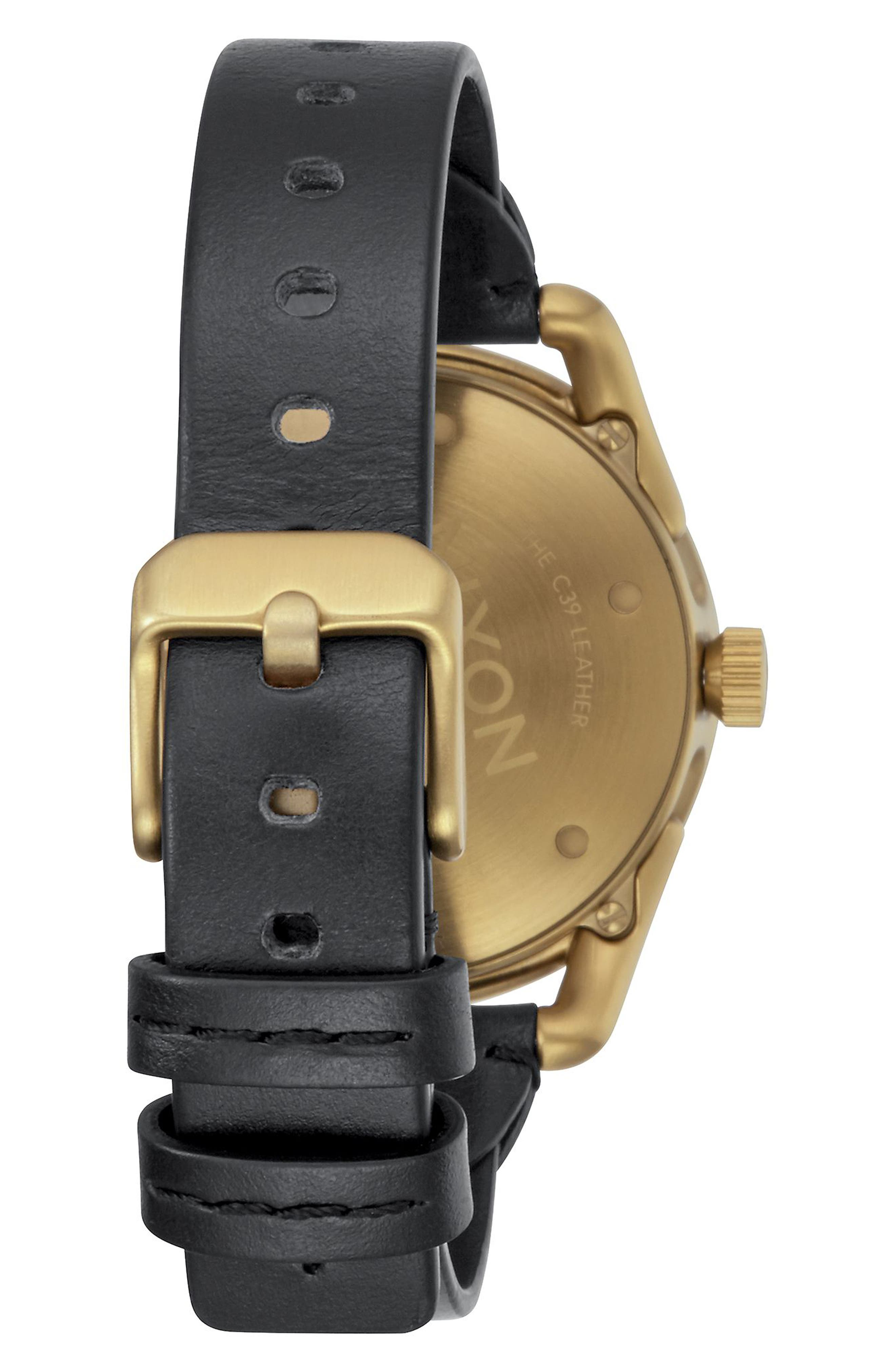 C39 Leather Strap Watch, 39mm,                             Alternate thumbnail 6, color,
