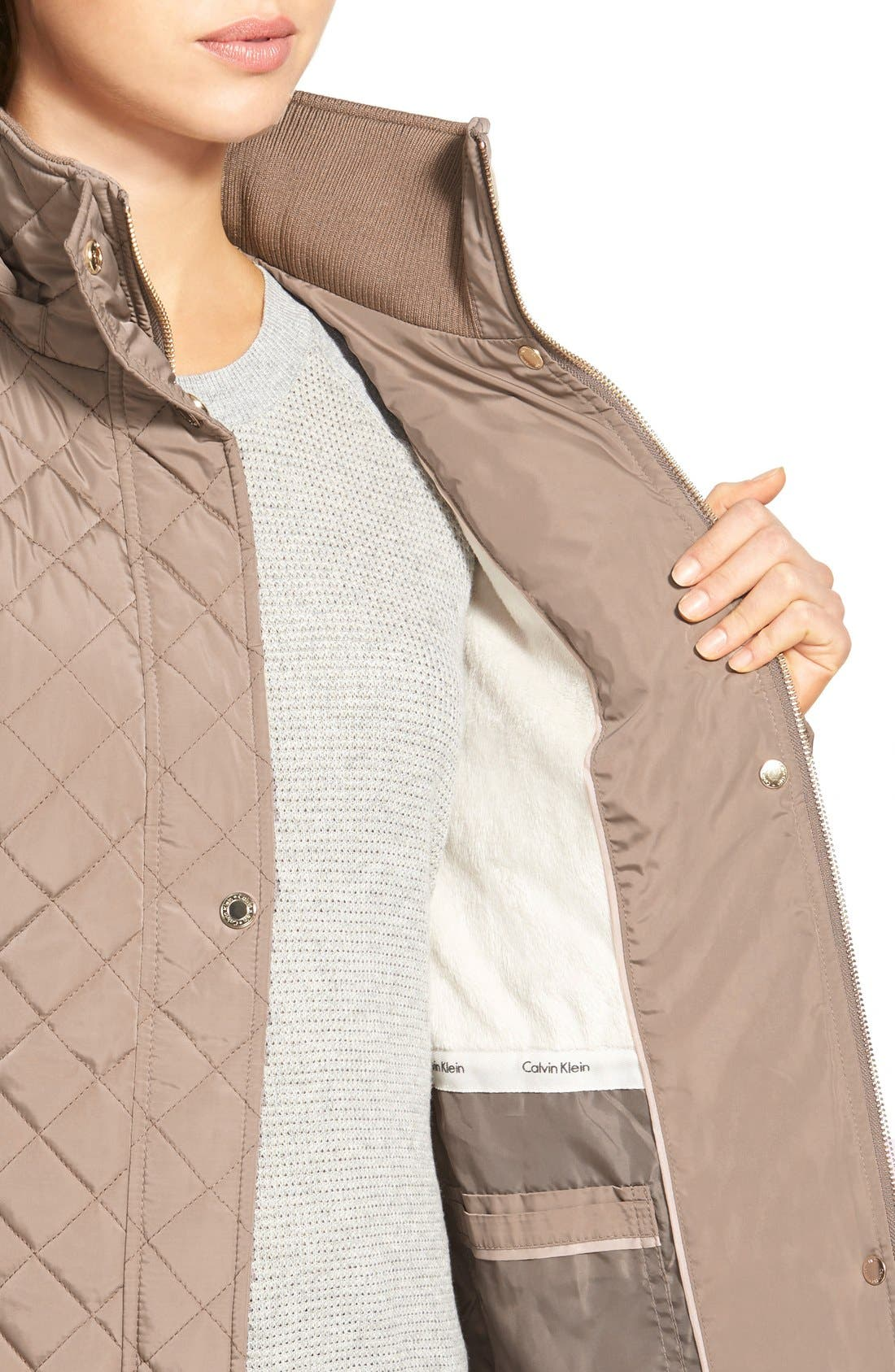 Hooded Quilted Jacket,                             Alternate thumbnail 42, color,