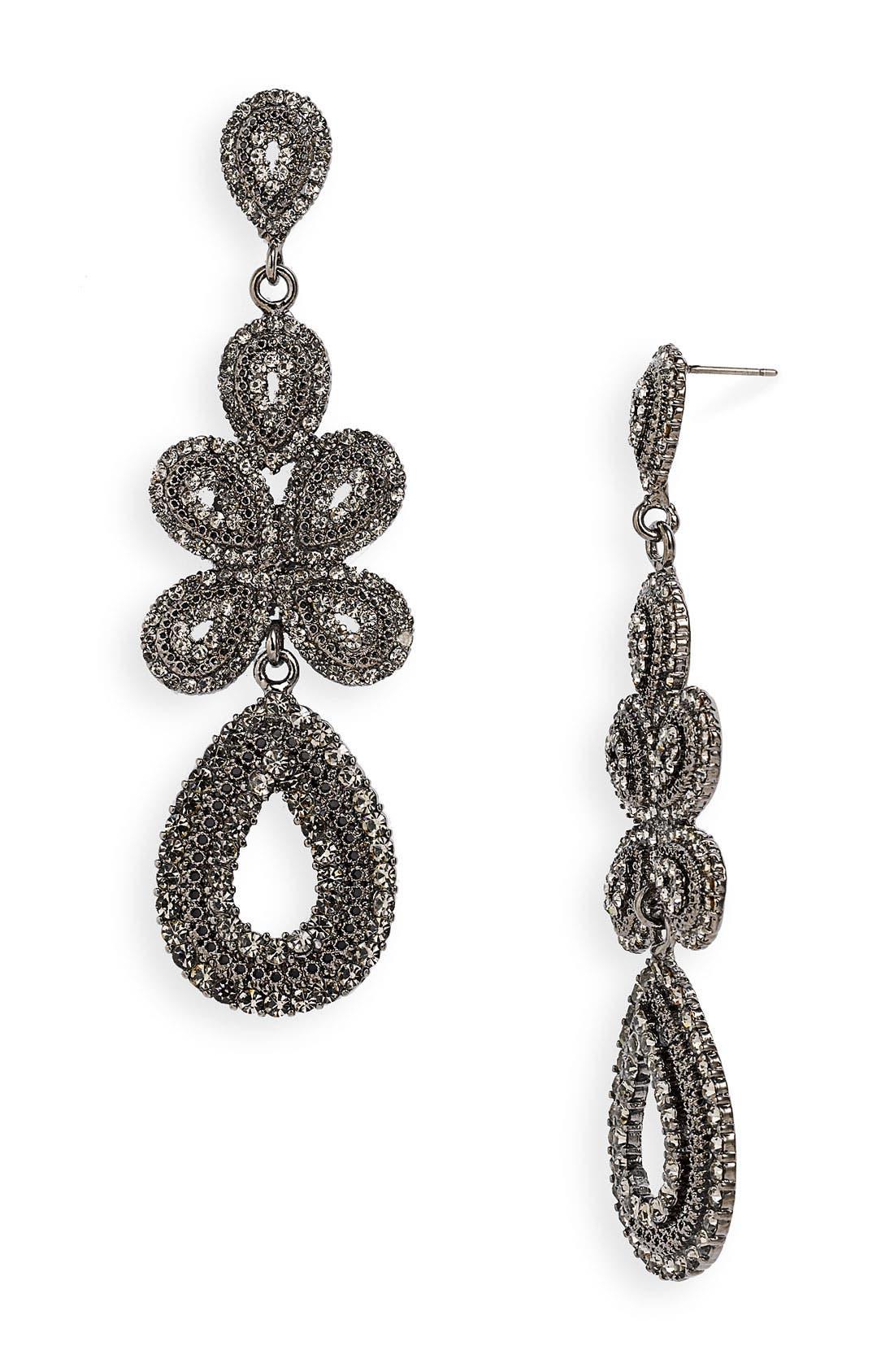 'Ornate' Linear Statement Earrings,                             Main thumbnail 2, color,