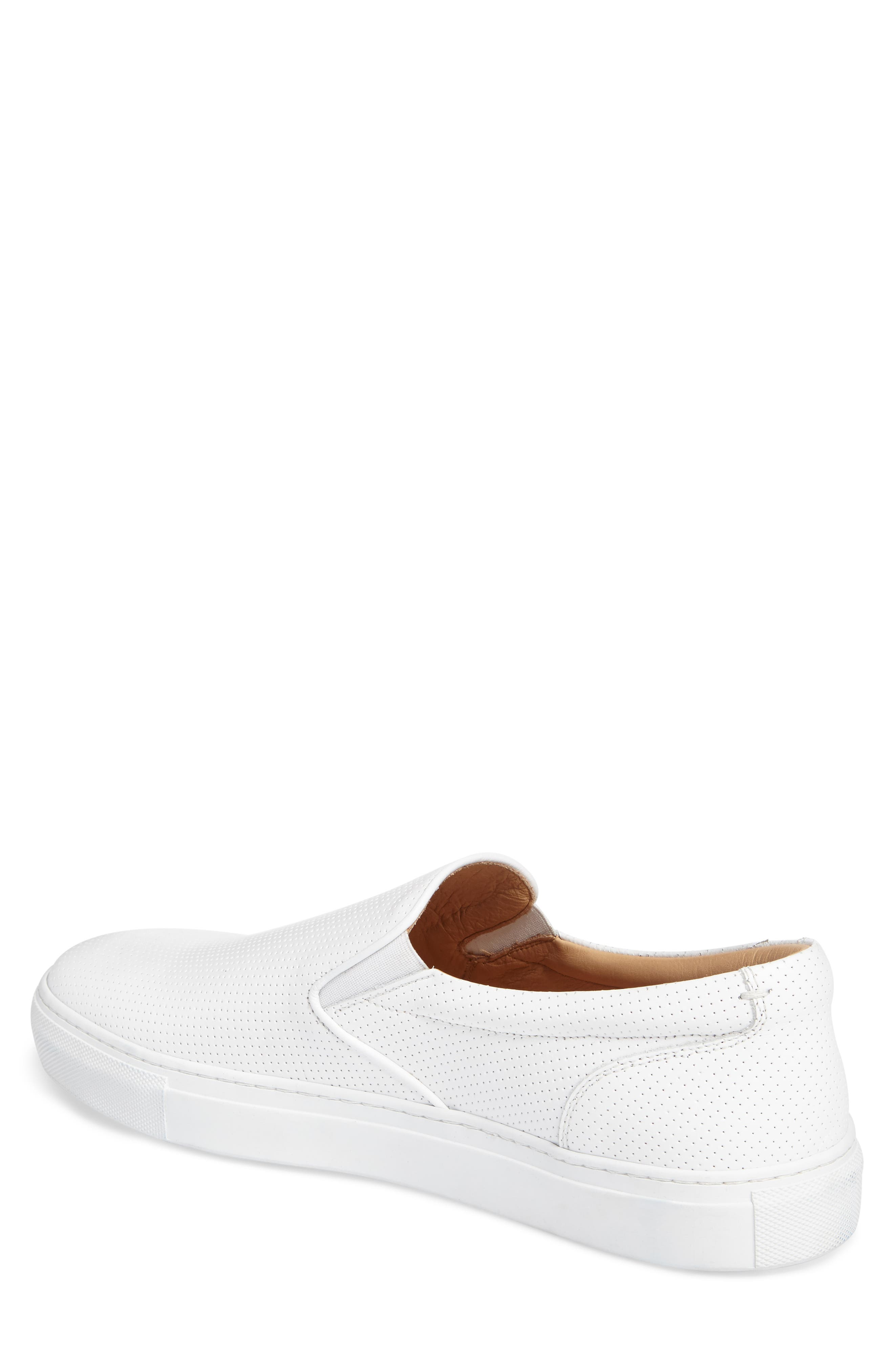 Wooster Slip-On Sneaker,                             Alternate thumbnail 2, color,                             WHITE PERFORATED LEATHER