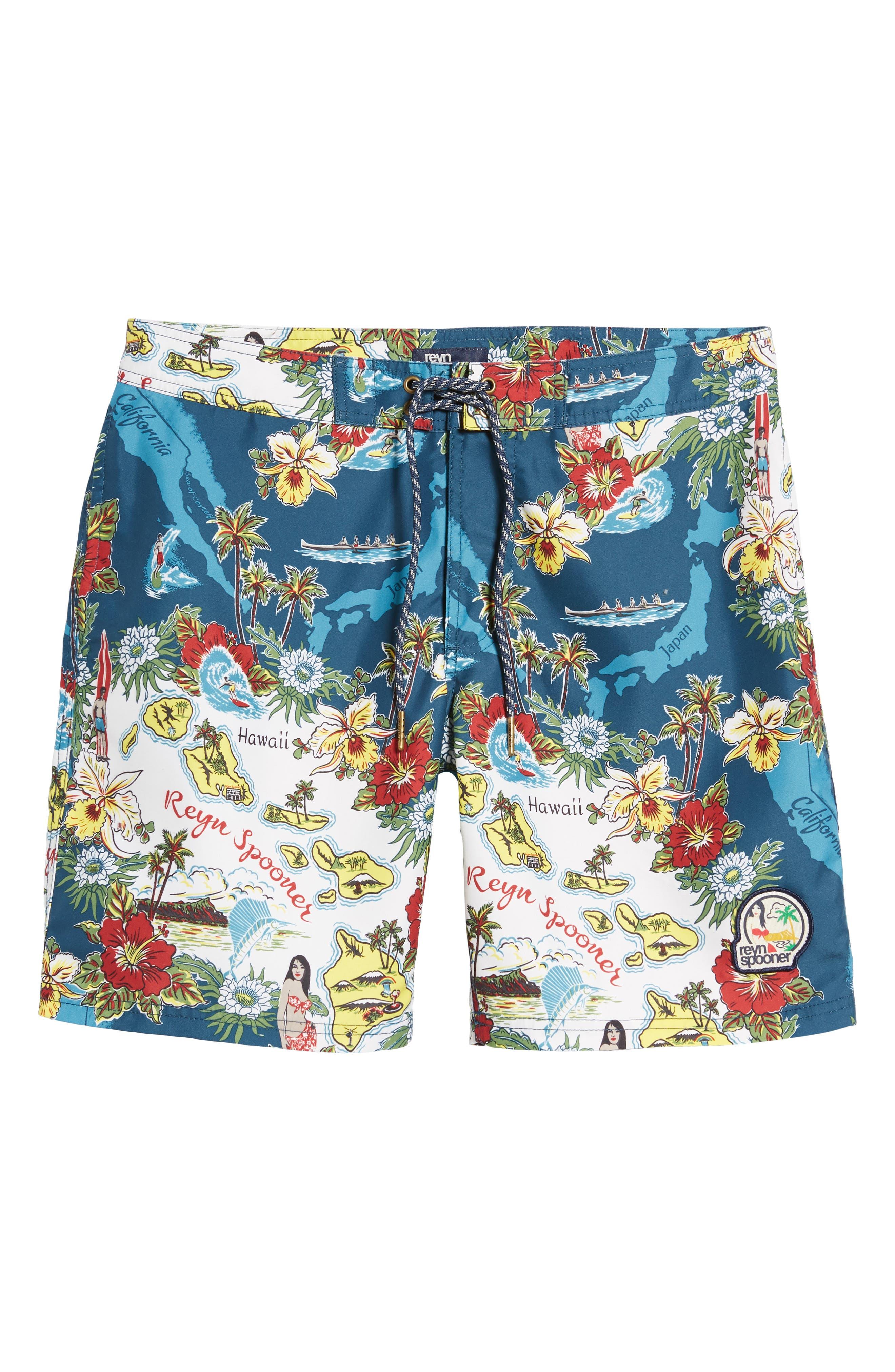 Status Oceanic Regular Fit Board Shorts,                             Alternate thumbnail 6, color,                             BLUE
