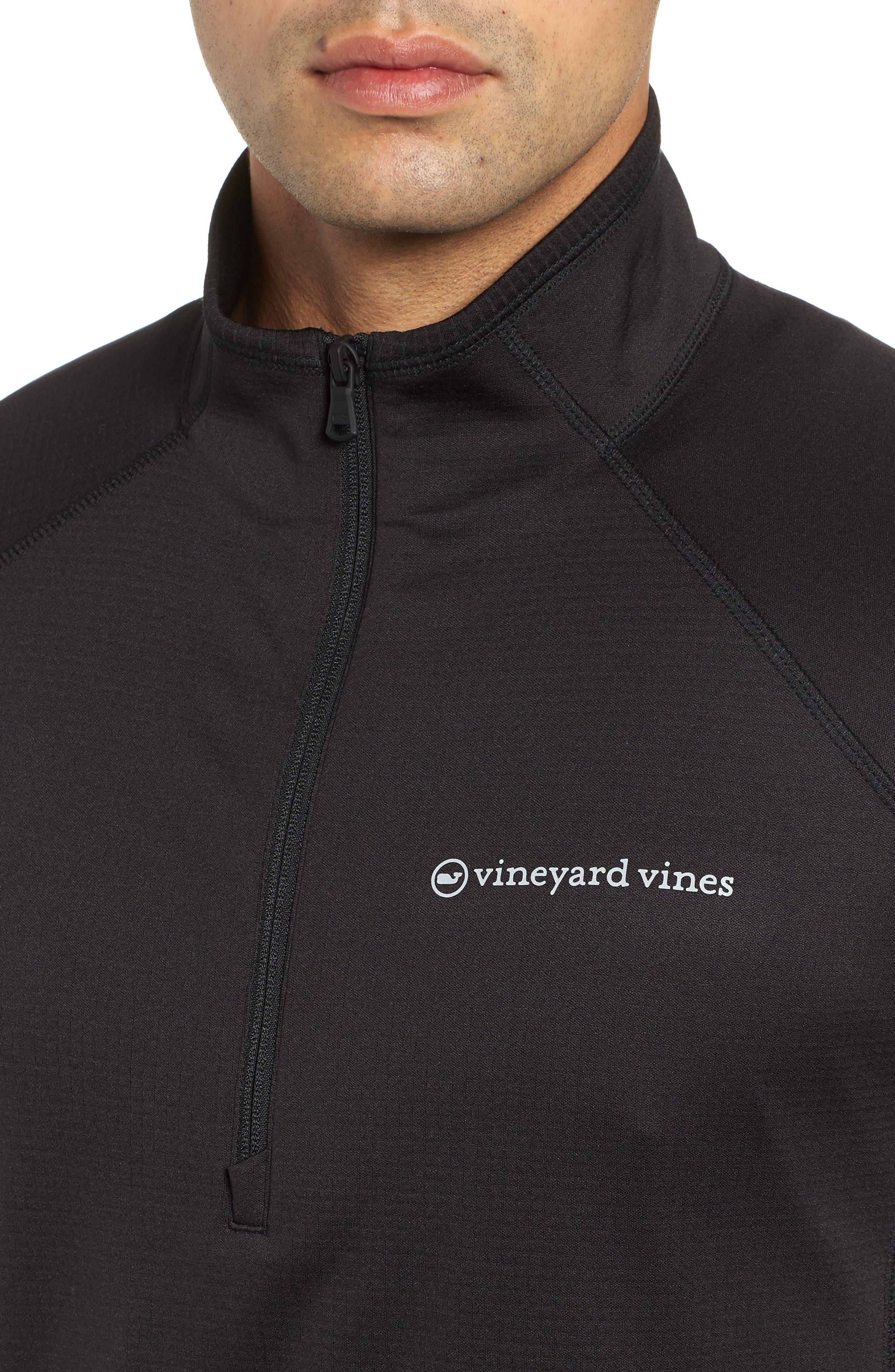 The New Nine Mile Half Zip Pullover,                             Alternate thumbnail 4, color,                             JET BLACK