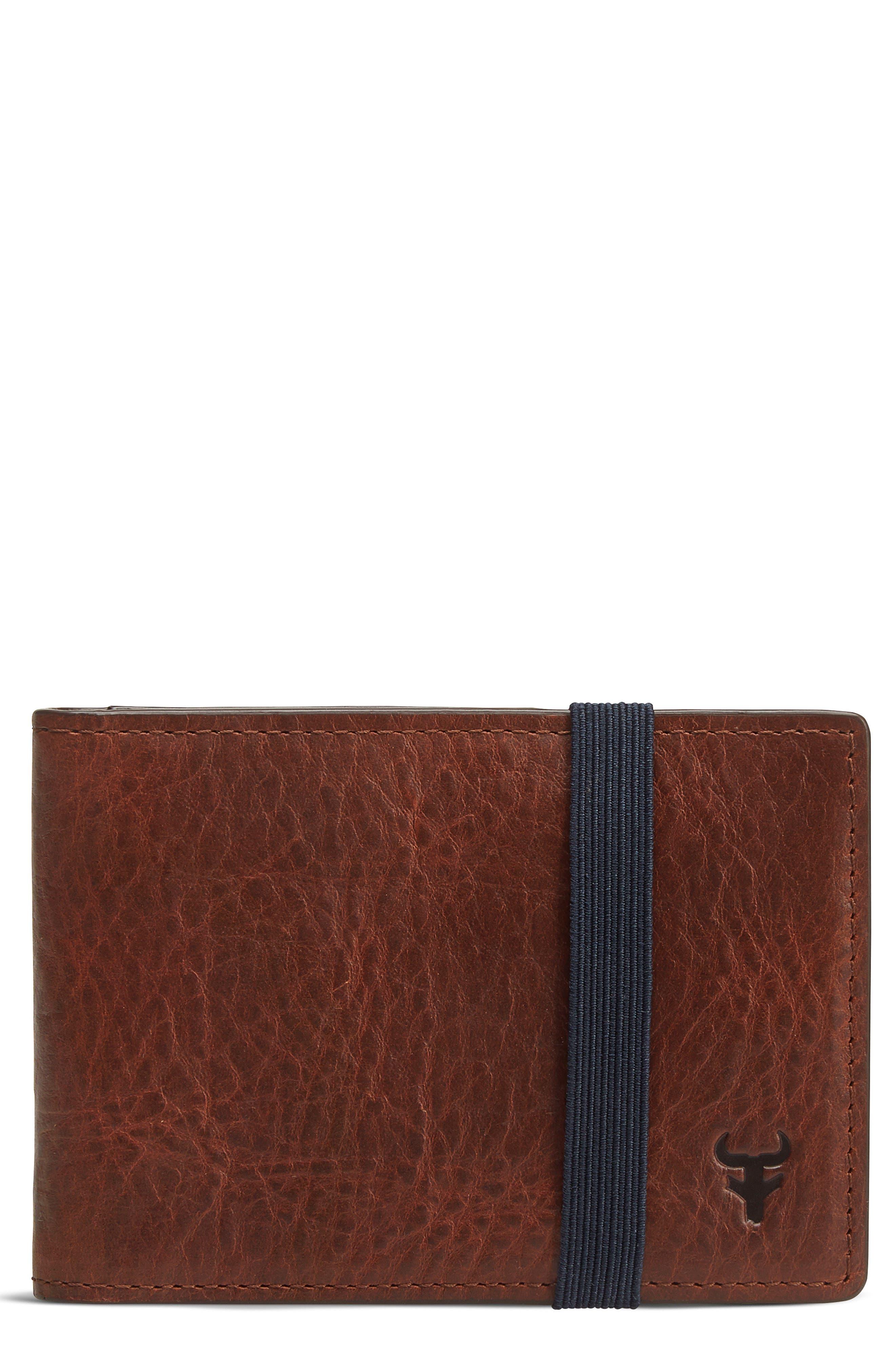 Leather Money Clip Wallet,                         Main,                         color, 211