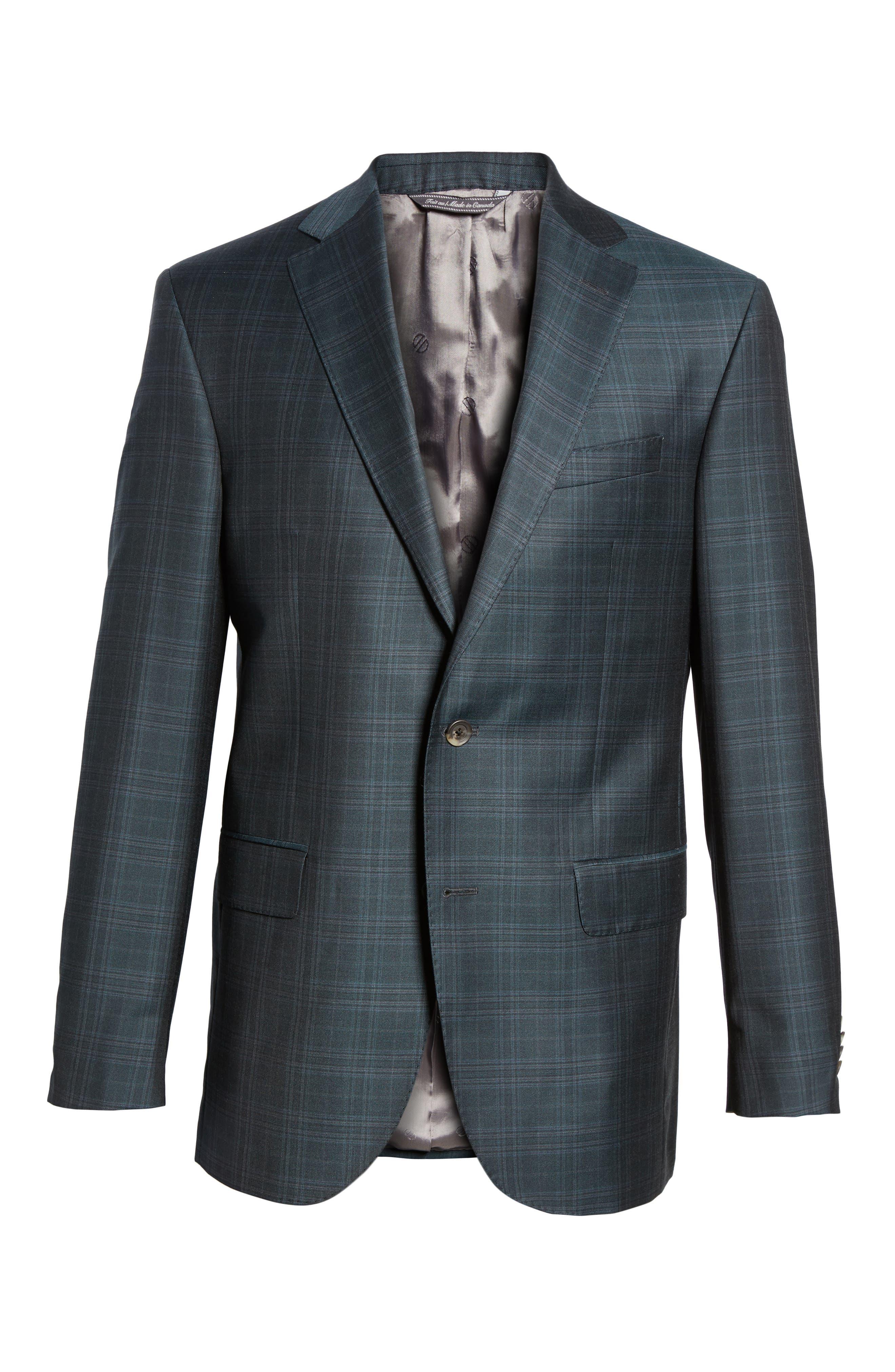Connor Classic Fit Plaid Wool Sport Coat,                             Alternate thumbnail 5, color,                             310