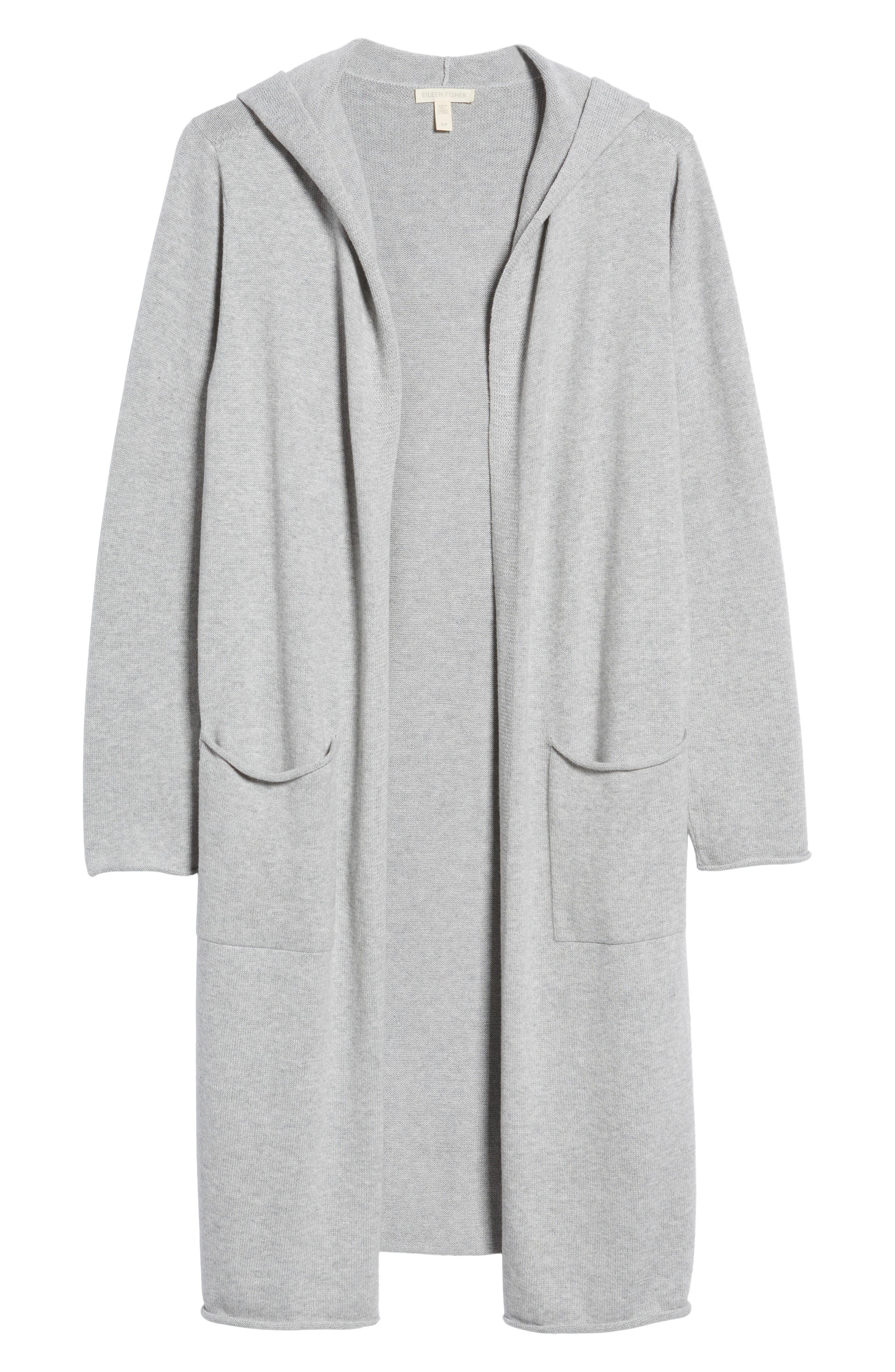 Organic Cotton Hooded Cardigan,                             Alternate thumbnail 6, color,                             022