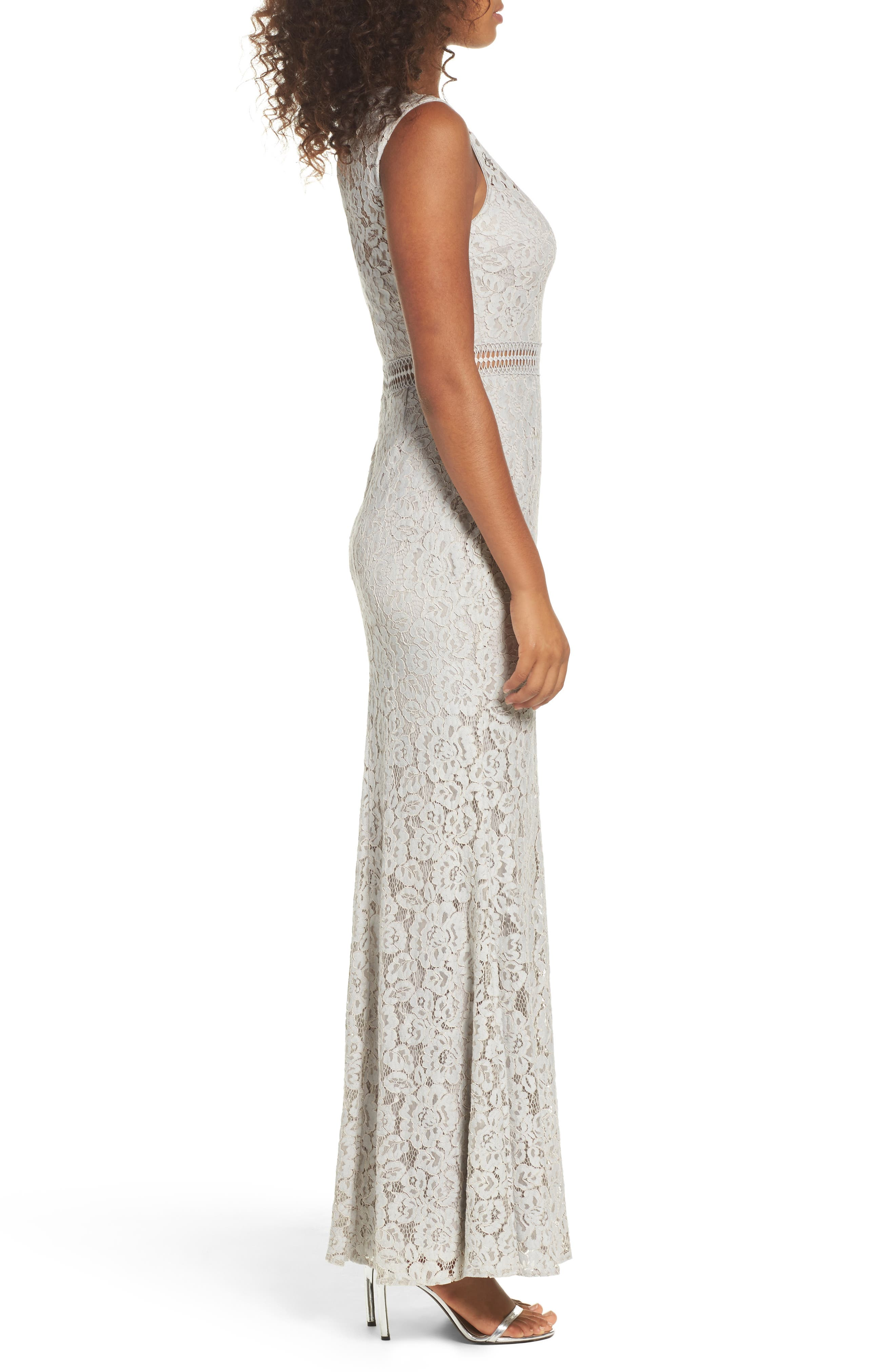 Music of the Heart Lace Maxi Dress,                             Alternate thumbnail 3, color,                             020