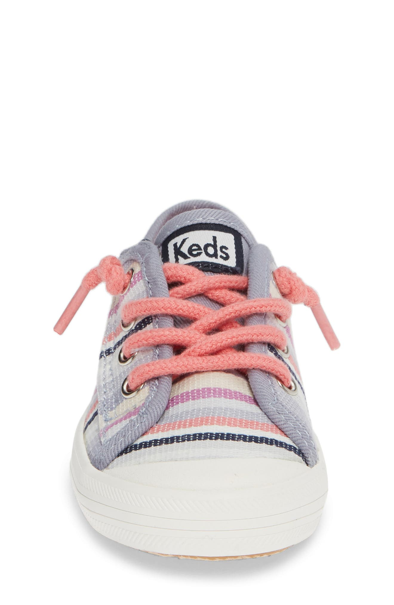Kickstart Stripe Cap Toe Sneaker,                             Alternate thumbnail 4, color,                             MULTI STRIPE