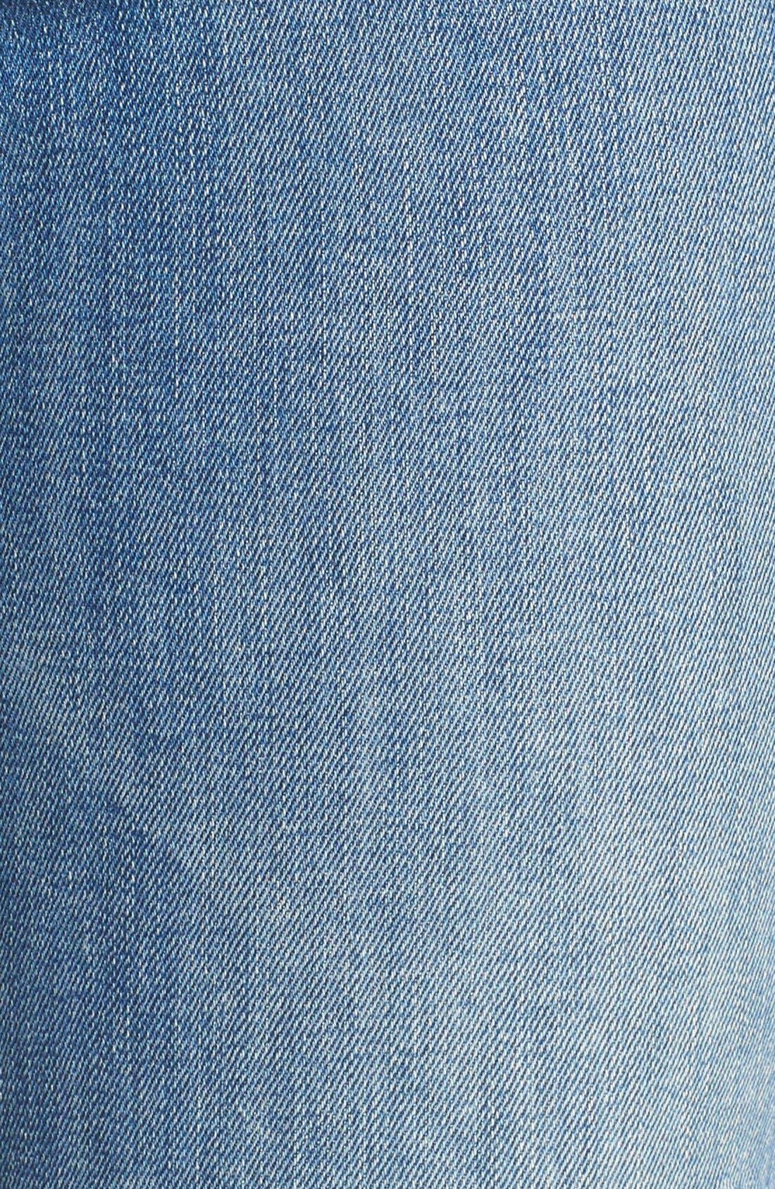 The Stunner Frayed Ankle Skinny Jeans,                             Alternate thumbnail 8, color,                             GRAFITTI GIRL