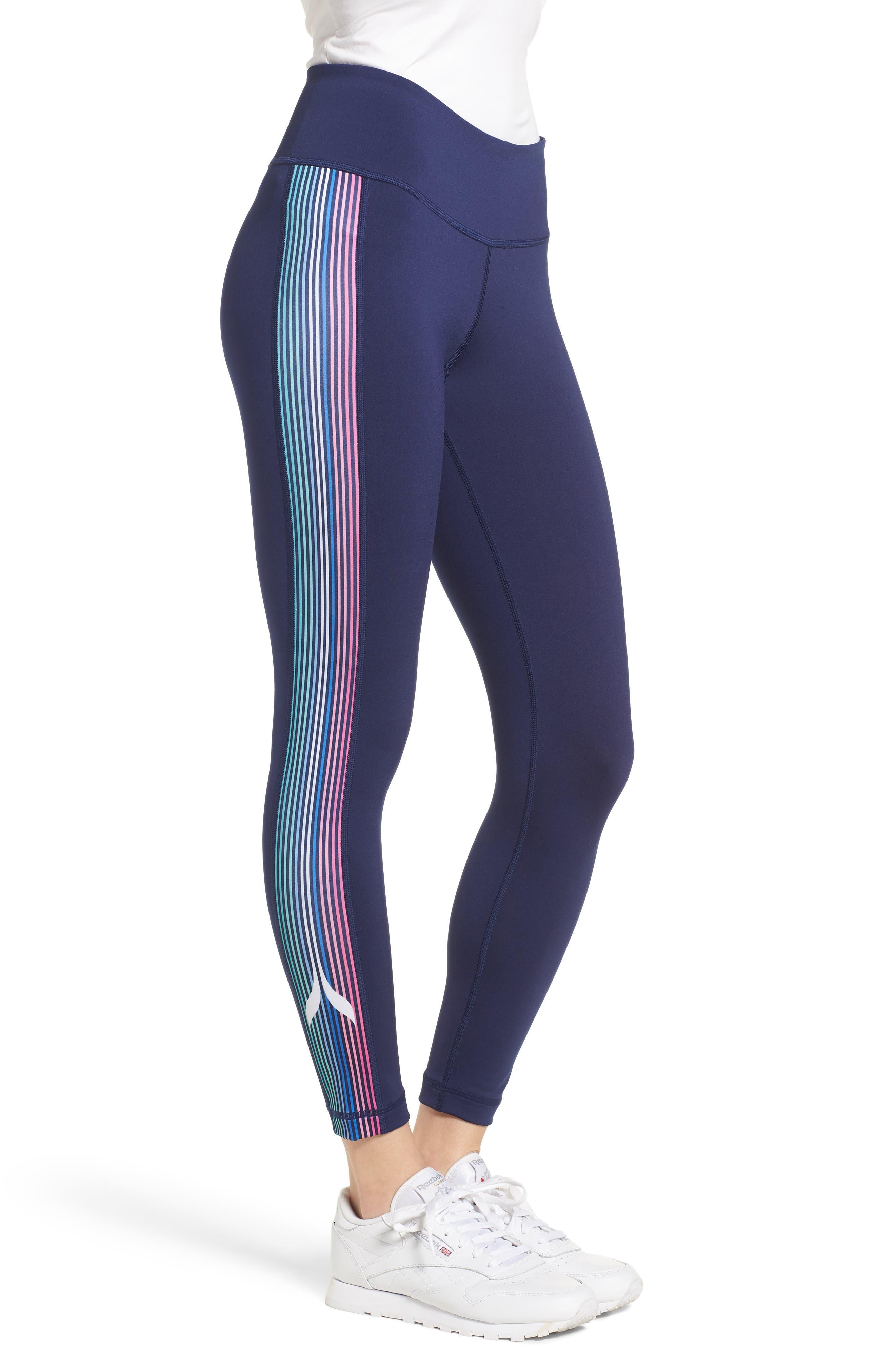 Whale Stripe Sports Leggings,                             Alternate thumbnail 3, color,                             476