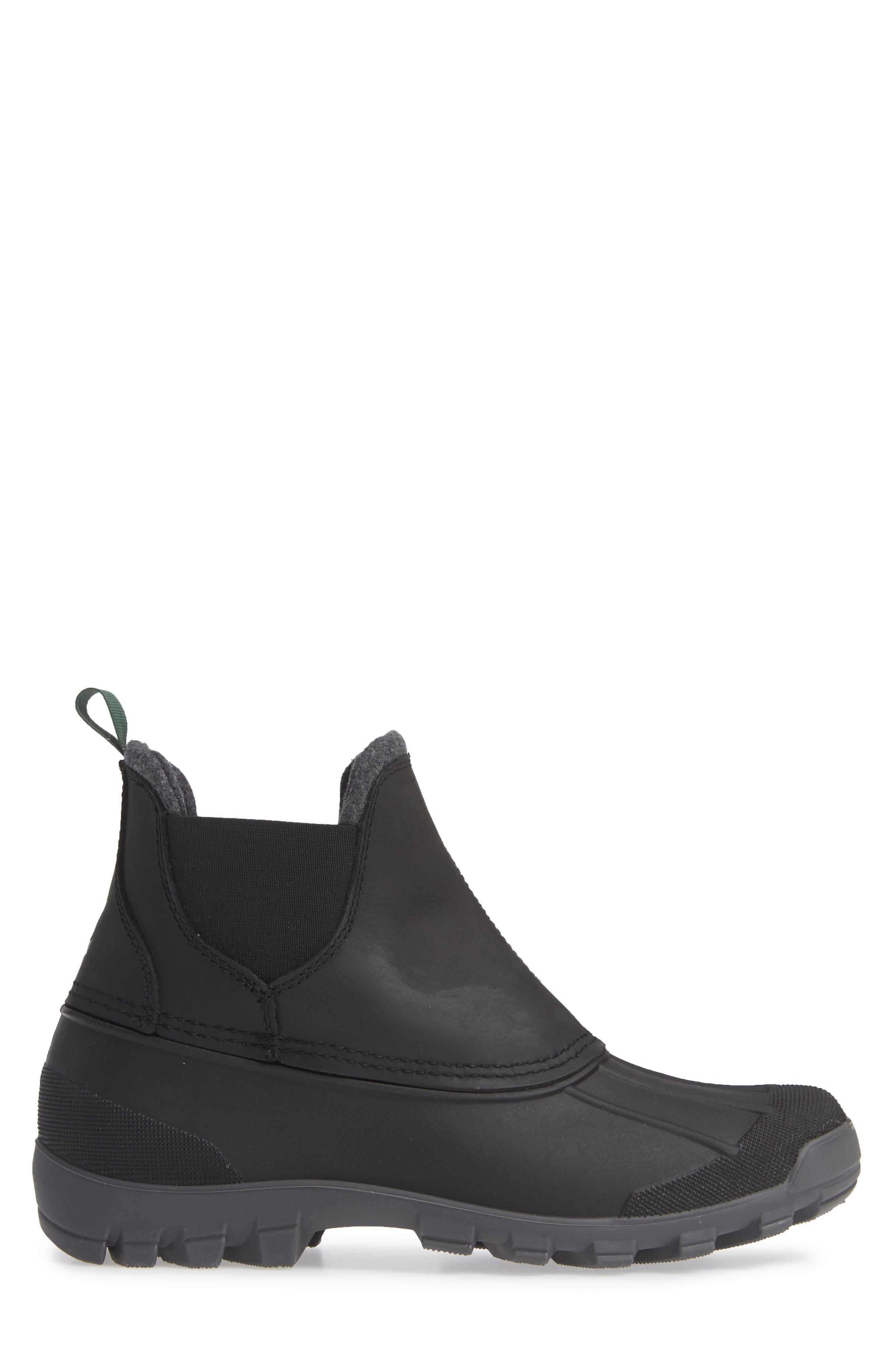 Hudson C Waterproof Winter Boot,                             Alternate thumbnail 3, color,                             001
