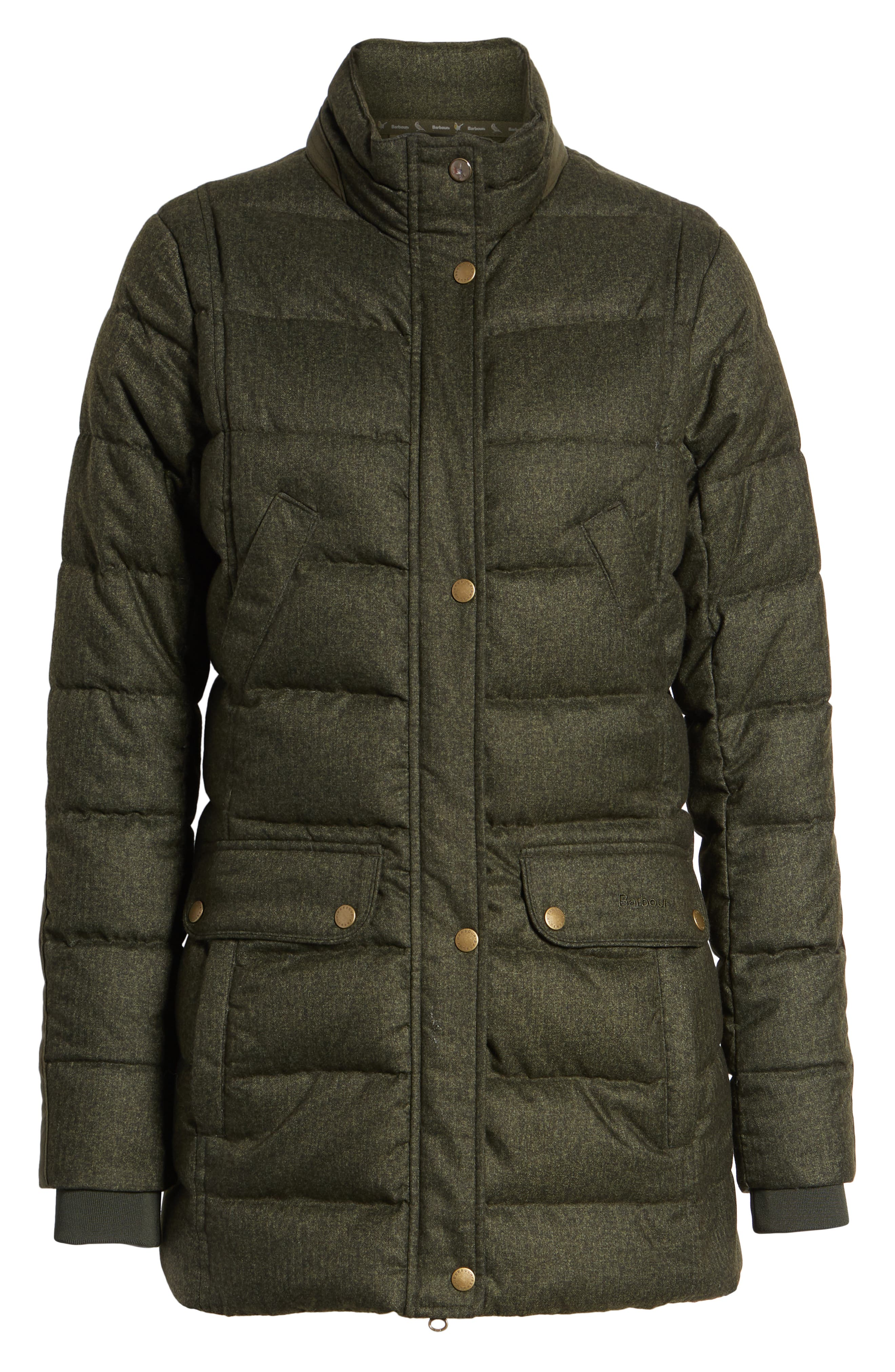 Goldfinch Quilted Jacket,                             Alternate thumbnail 6, color,                             OLIVE