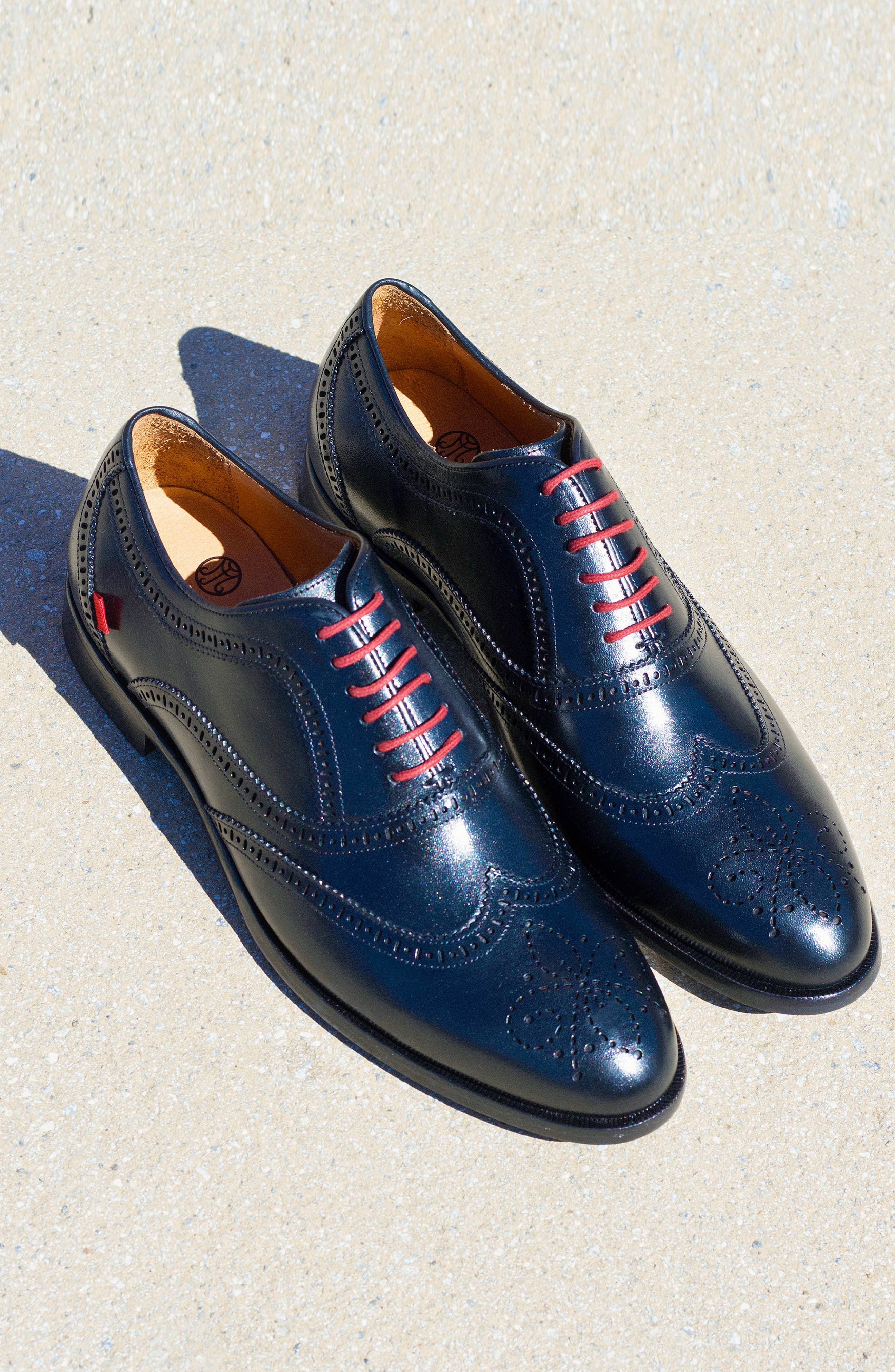Madison Wingtip Oxford,                             Alternate thumbnail 8, color,                             BLACK