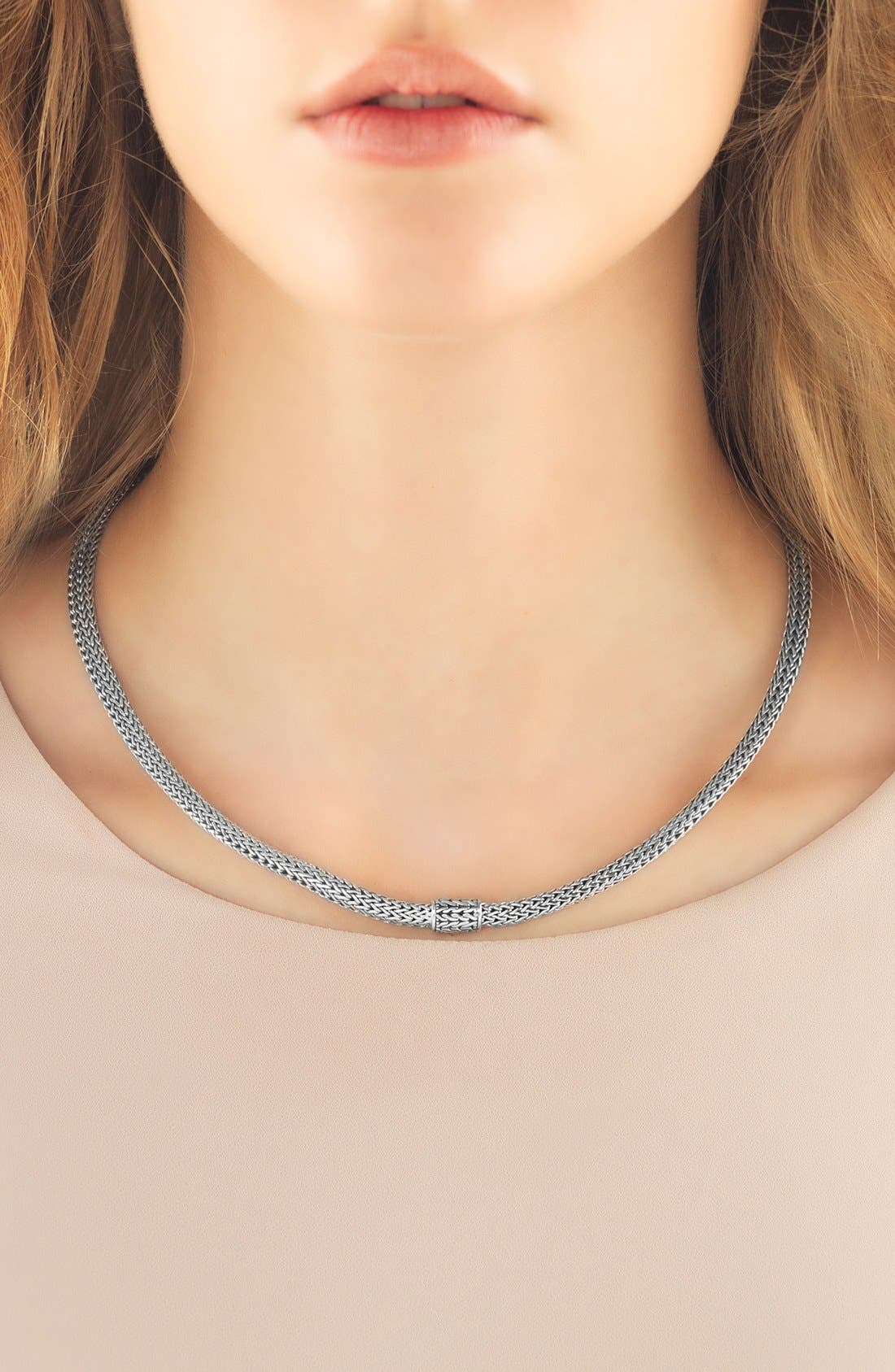 Extra-Small Chain Necklace,                             Alternate thumbnail 2, color,                             SILVER