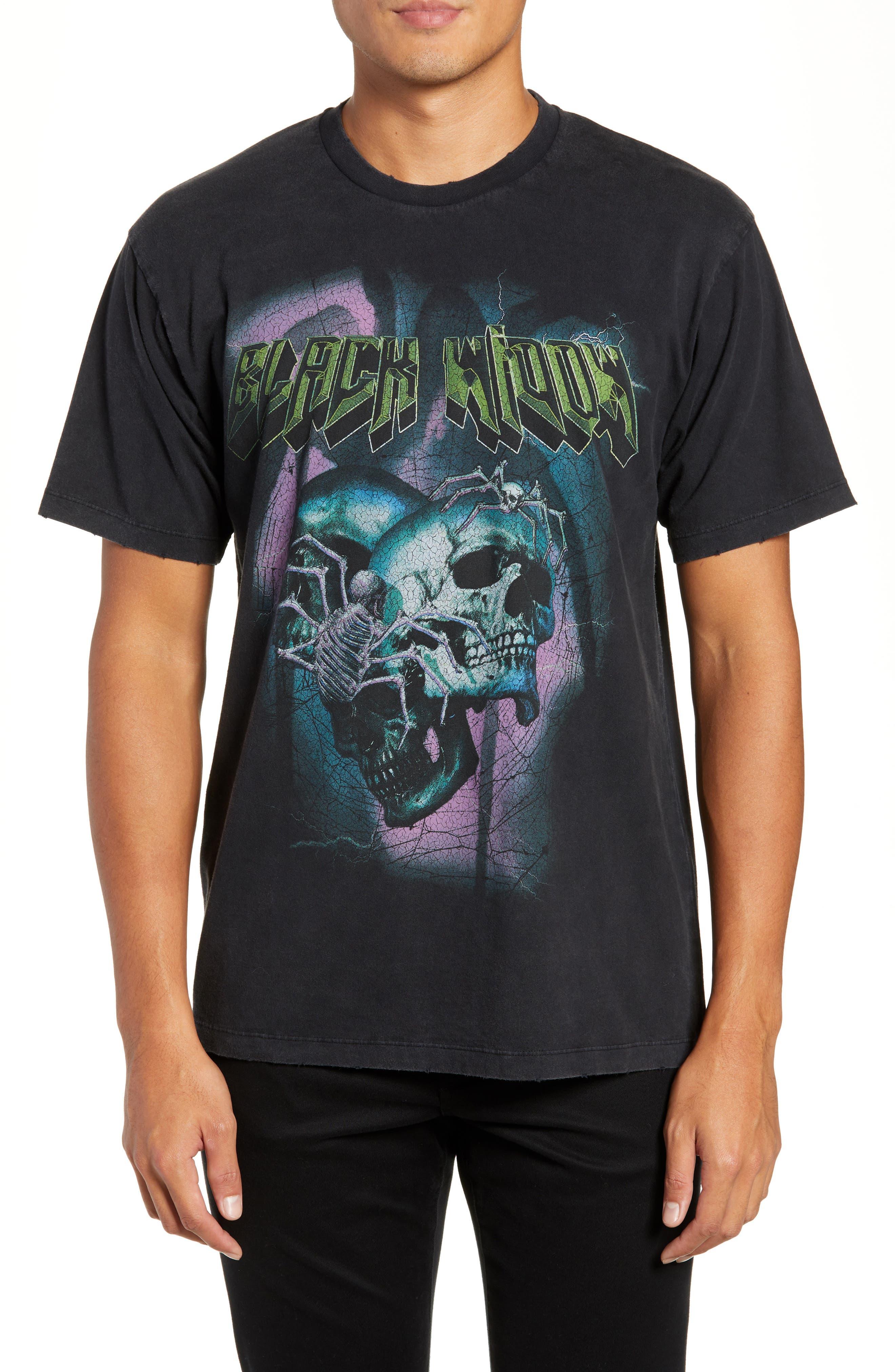 Black Widow Graphic T-Shirt,                             Main thumbnail 1, color,                             001
