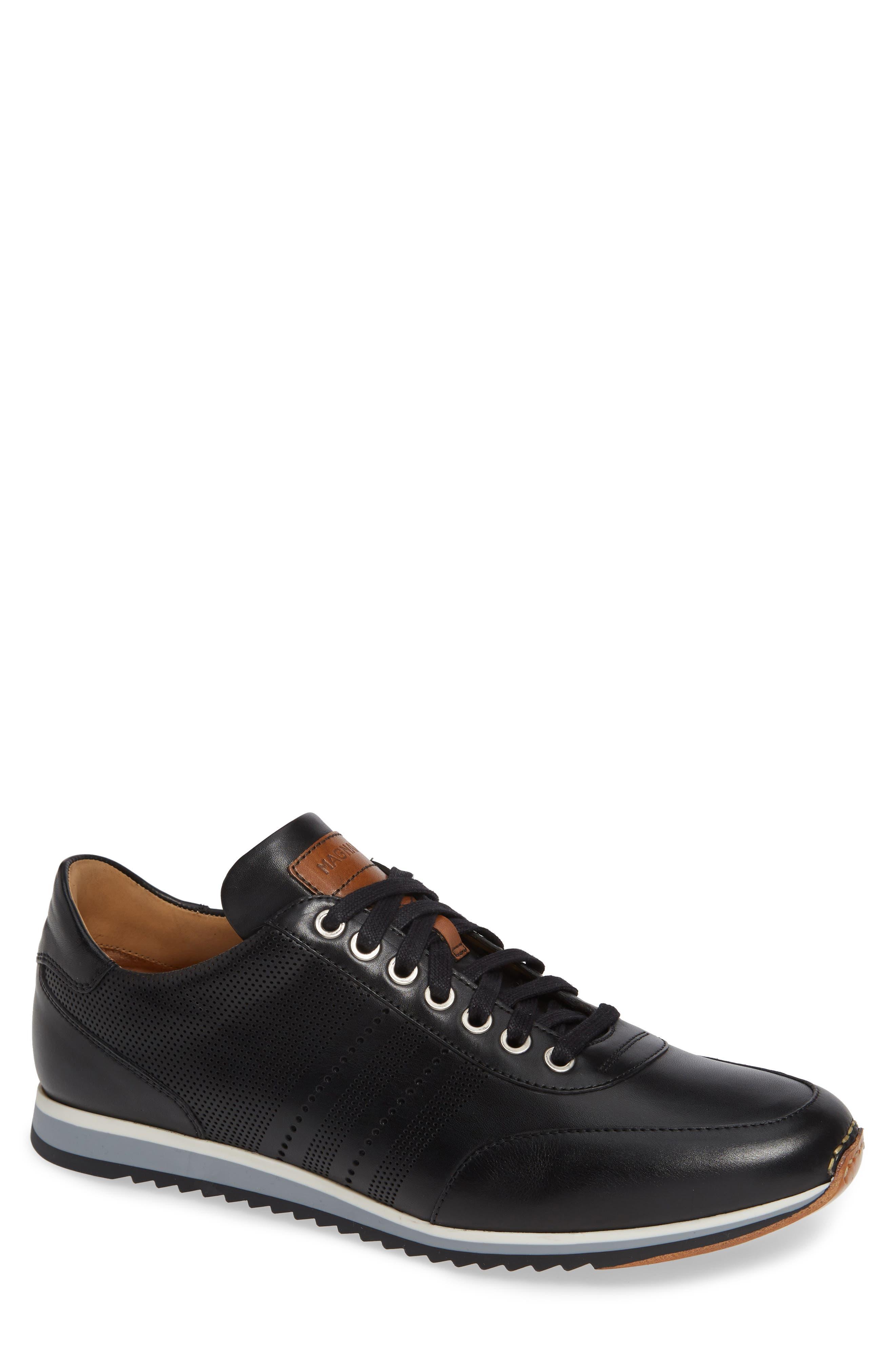 Merino Sneaker,                         Main,                         color, BLACK LEATHER